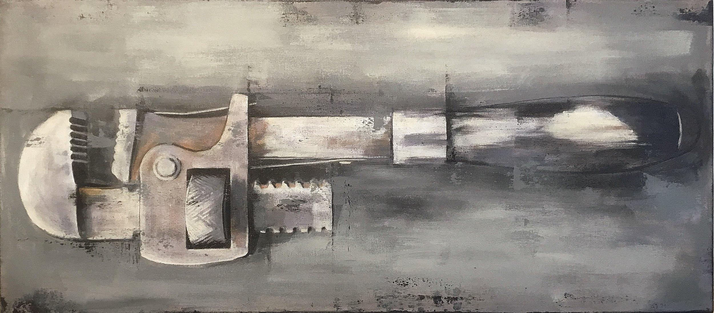 Pipe wrench  Acrylic on canvas 36x16