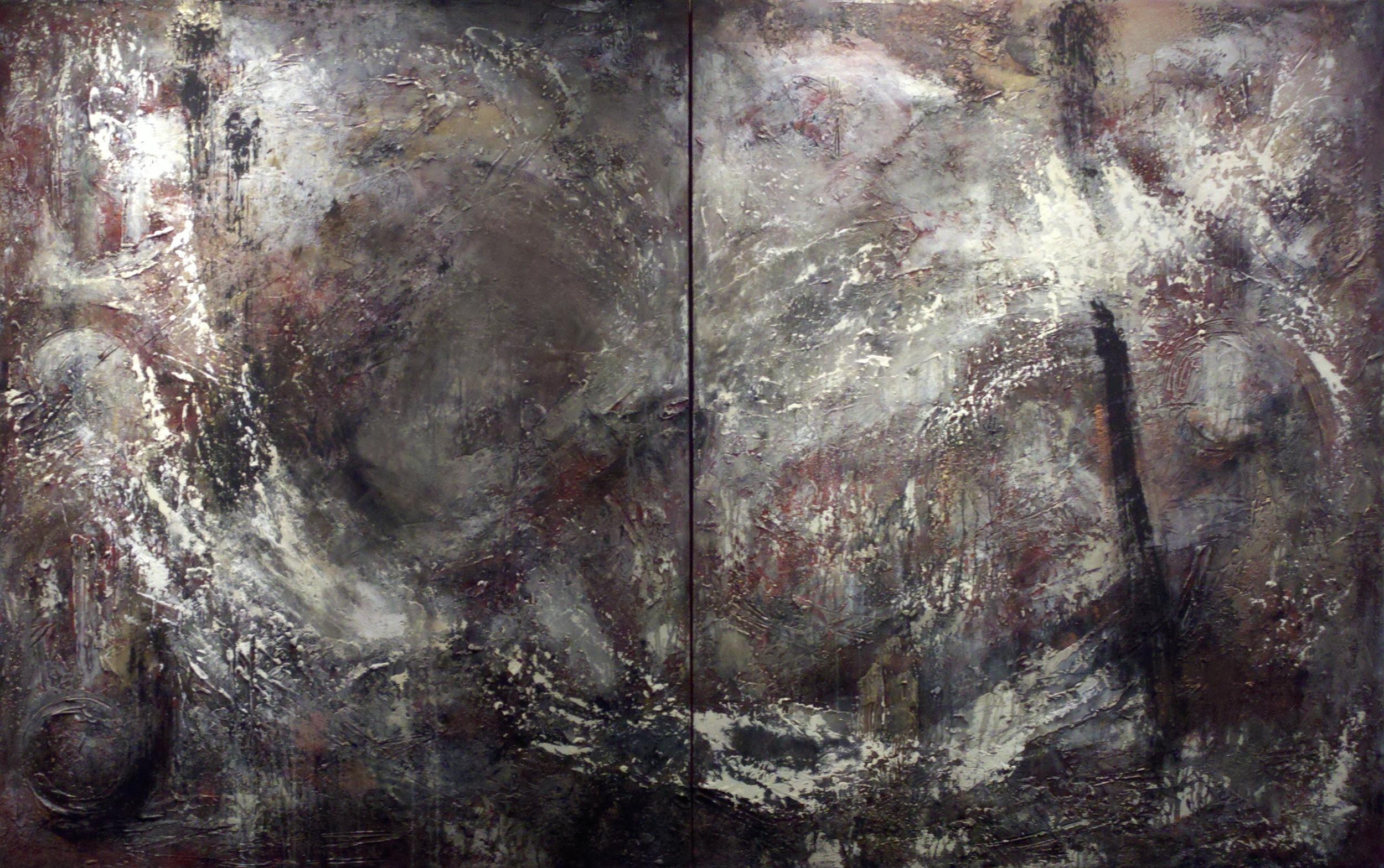 Aqua Vitae - mixed media and gold dust on canvas - 60 x 96 inches.JPG