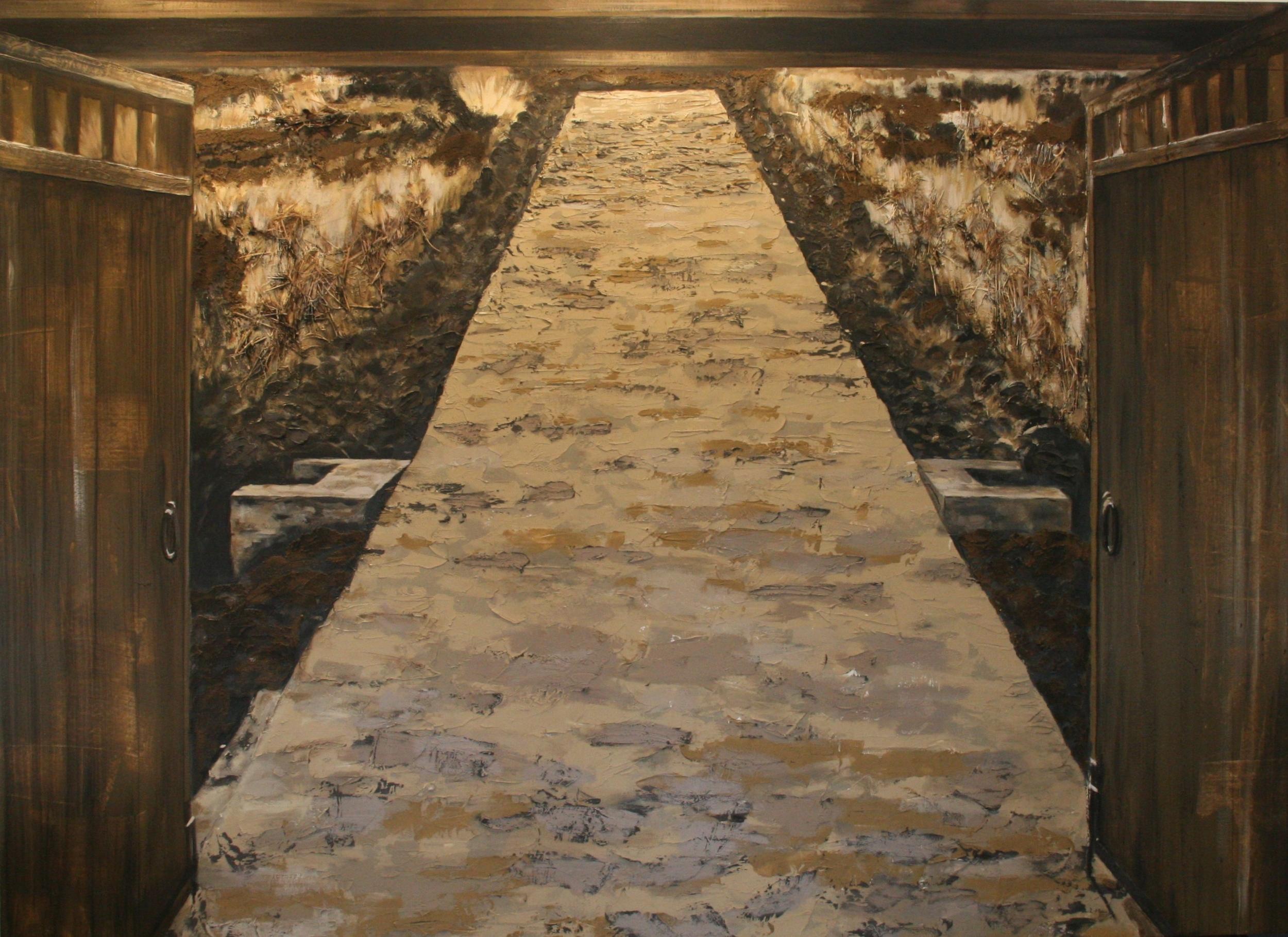 The Road - mixed media on canvas - Leslie Lemberg.jpg