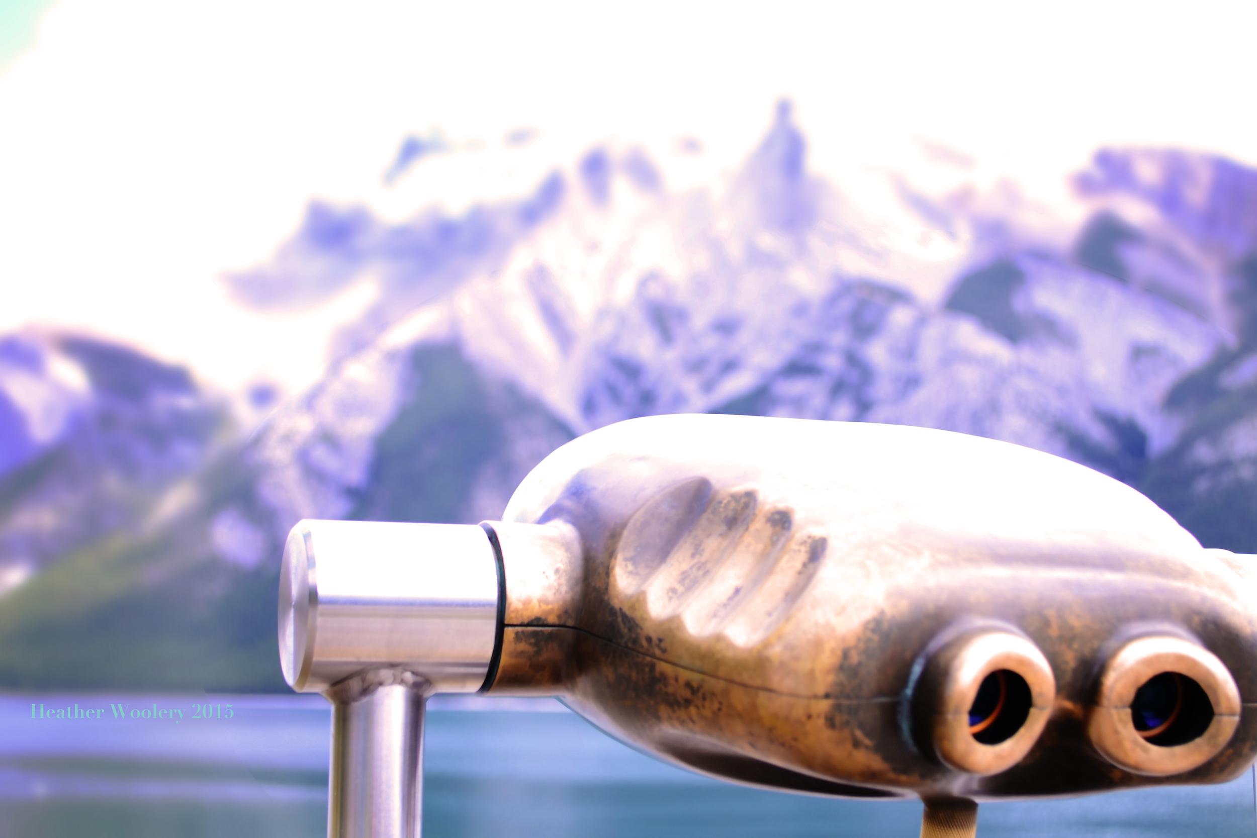 Lake Minniwonka Viewer | Banff, Alberta Canada | 2015 Heather Woolery All Rights Reserved
