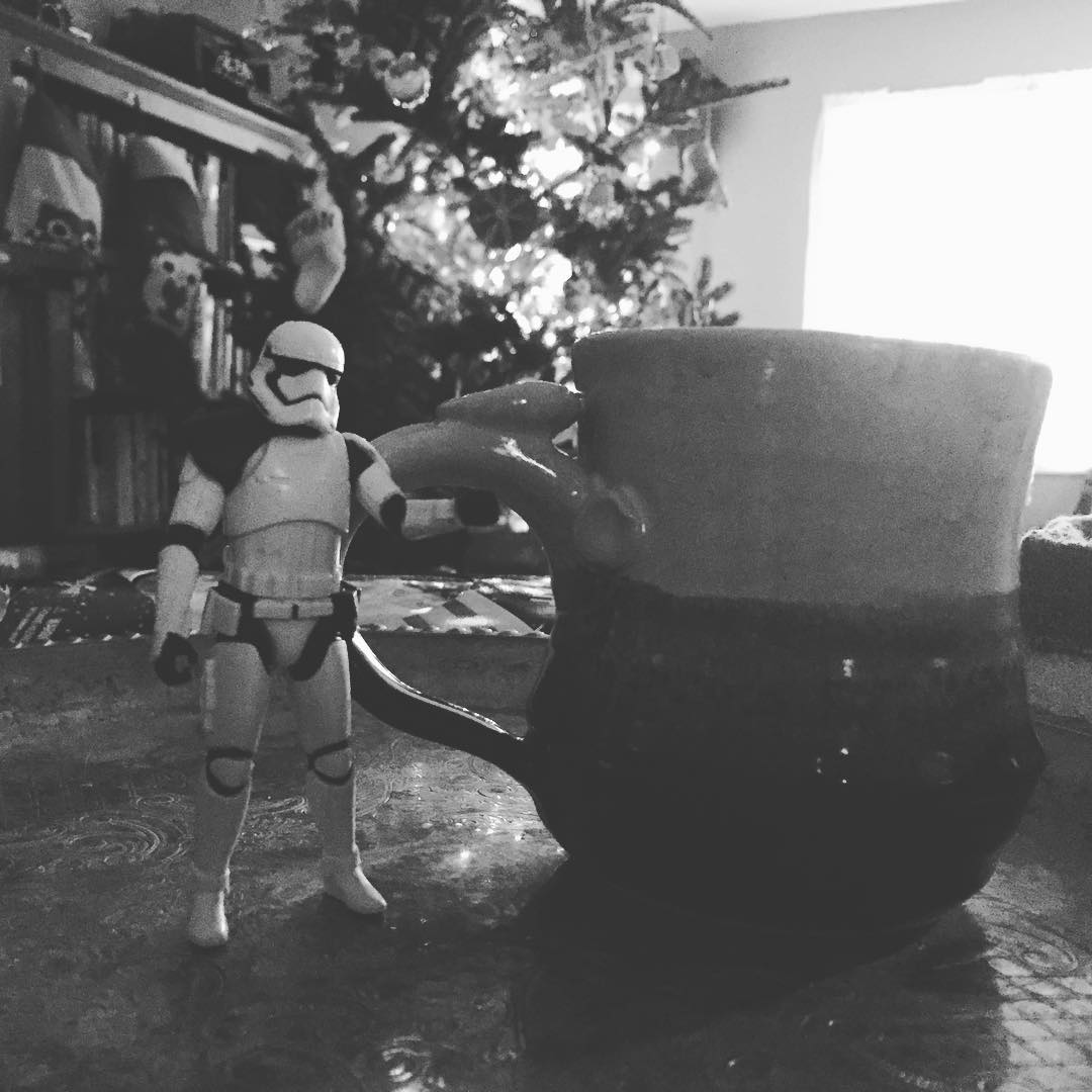 (My son Christmas Morning was for certain my coffee needed protecting, I like the way he thinks!  All Rights Reserved| Heather Woolery 2015