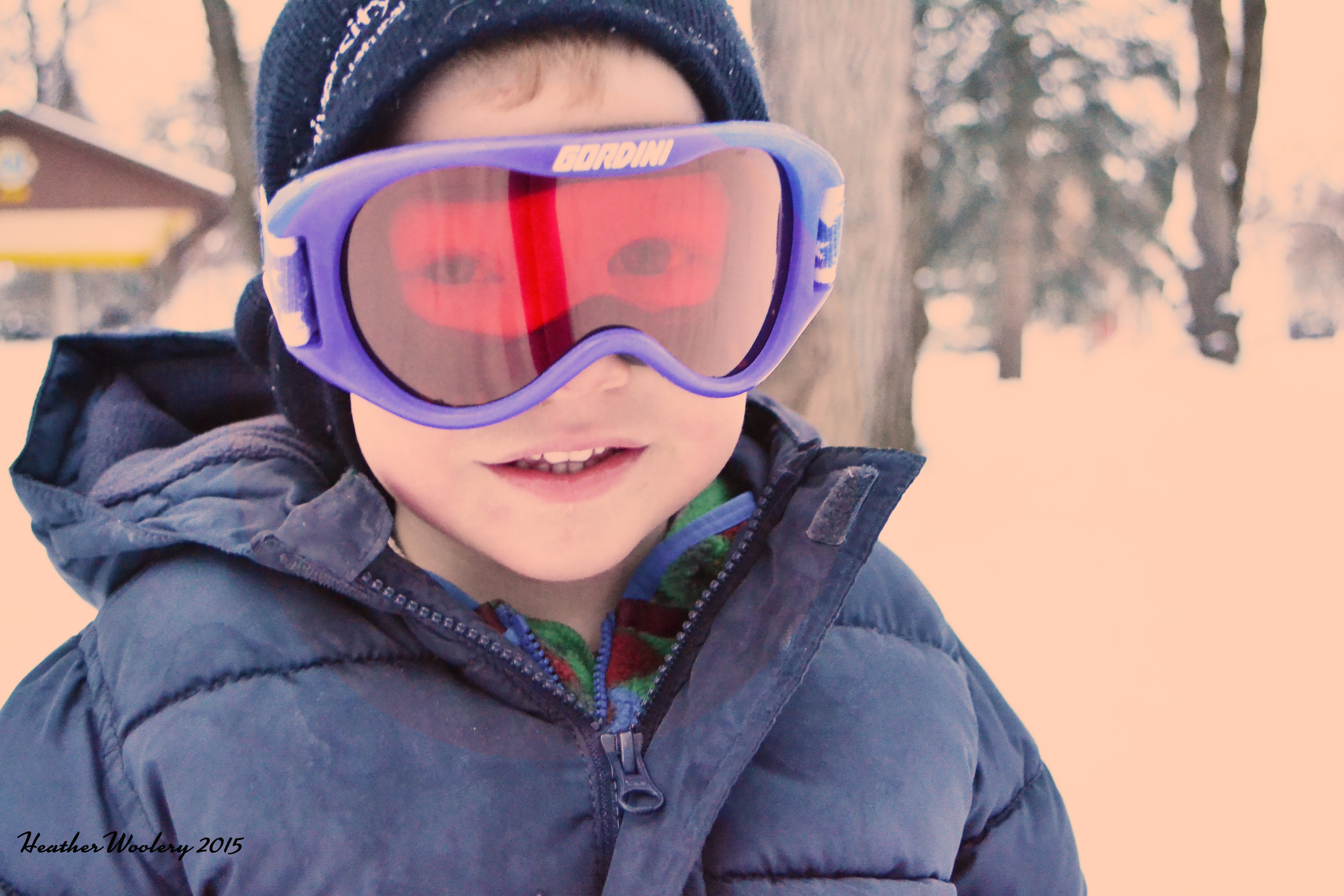 Gearing up to go sledding | All Rights Reserved Heather Woolery 2015