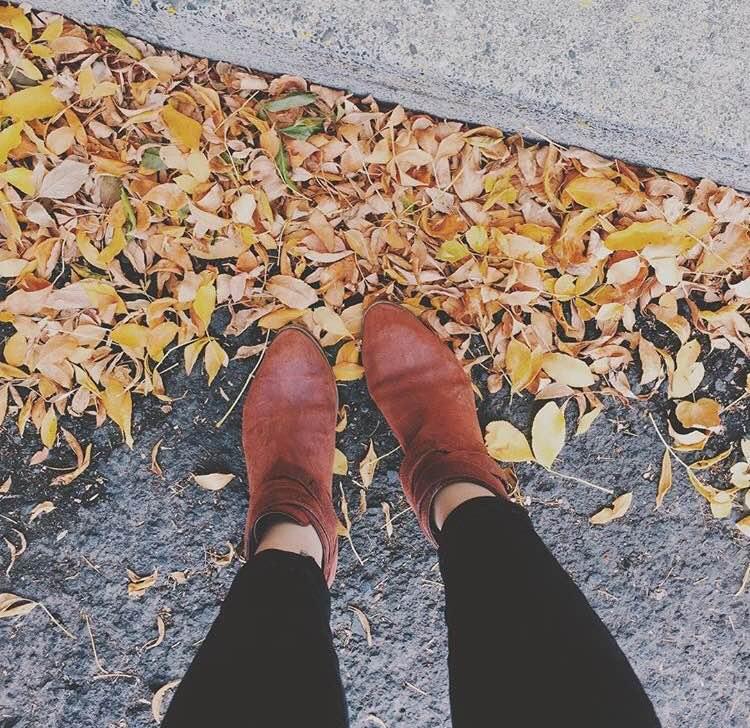 Hello Autumn. Hello little booties.