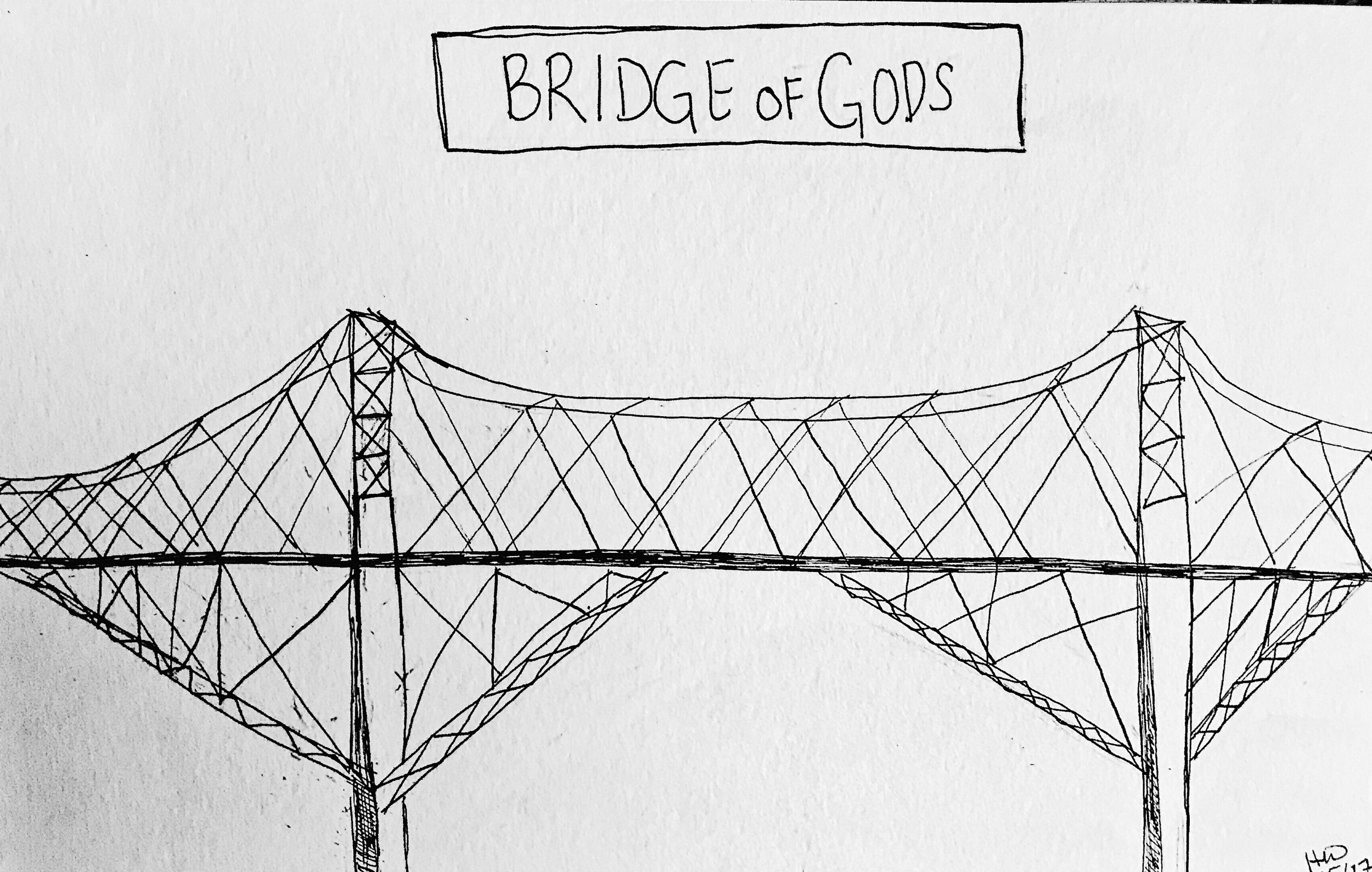 Bridge of Gods Doodle | Heather Woolery | May 2017