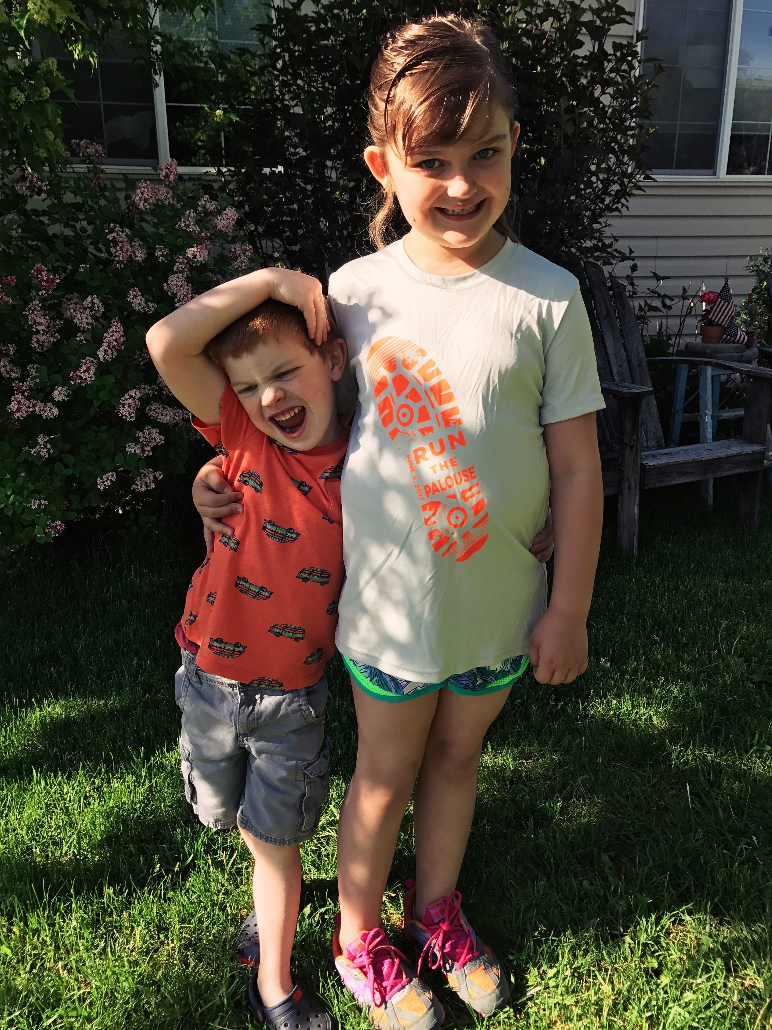 My two mini's on the morning of their last day of school May 2017