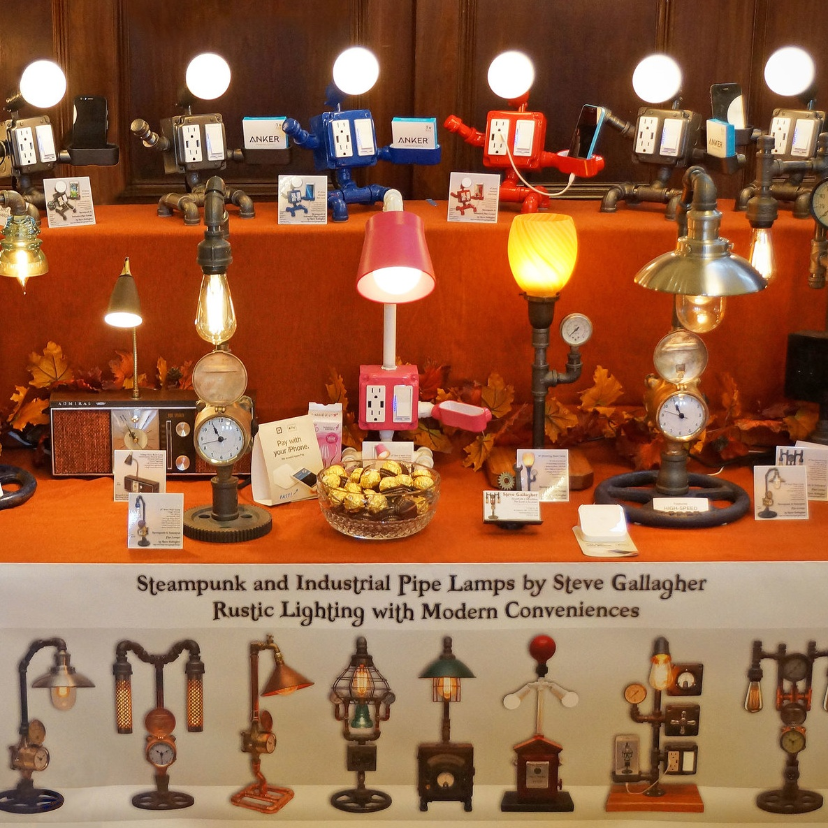 Steve Gallagher's Steampunk & Industrial Pipe Lamps