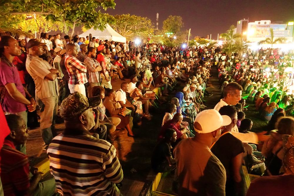 Jamaicans and tourists come out in their numbers for the second Reggae Wednesday show