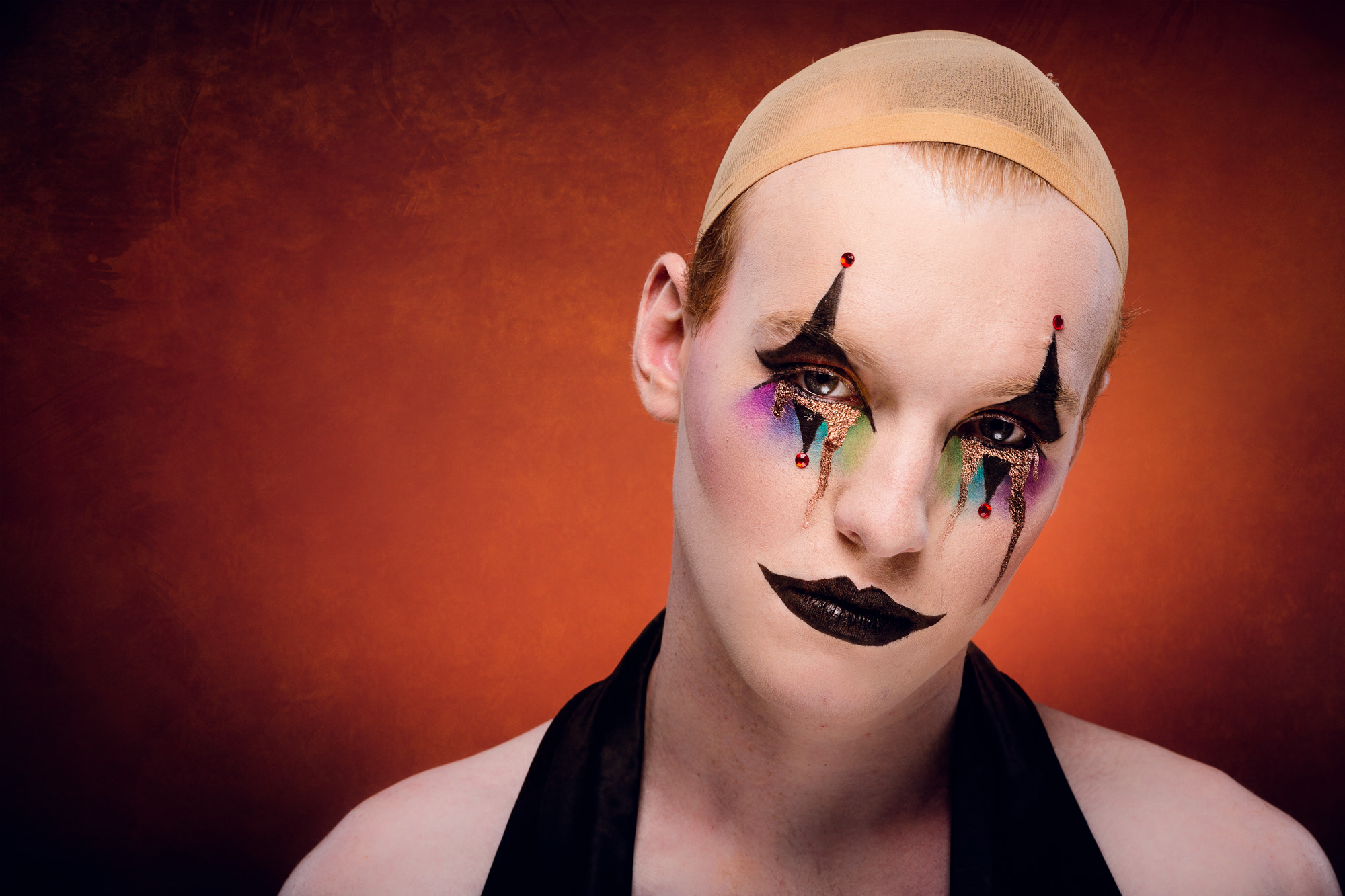 The clown, so happy for others.  Shortlisted image for the ACT Awards.