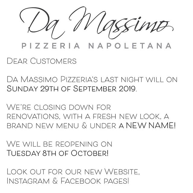 Coming back brand new - watch this space!  #pizza #handmade #bentleigh #melbourne #bestpizzamelbourne #artisan #withpassion #woodfiredpizzamelbourne #weliveforpizza #melbourneiloveyou #melbournefoodie #fire #melbournedinner #igmelbourne #foodie #food #italiansdoitbetter #liveinitalian #australia