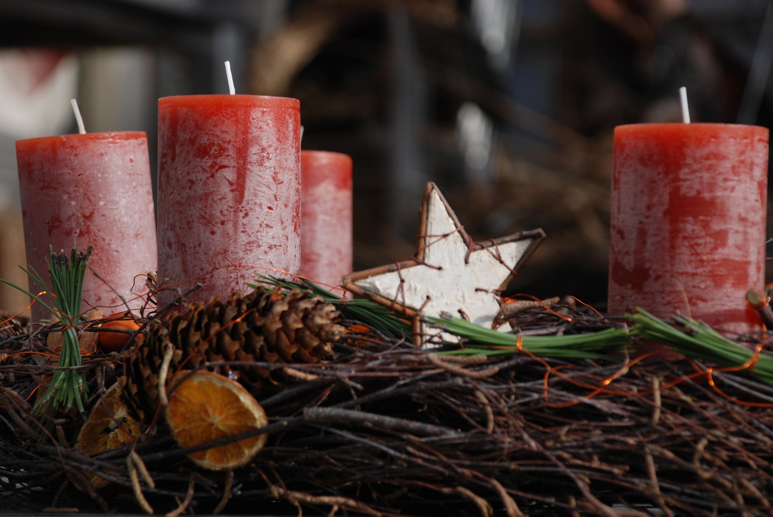 Naturnaher Adventskranz