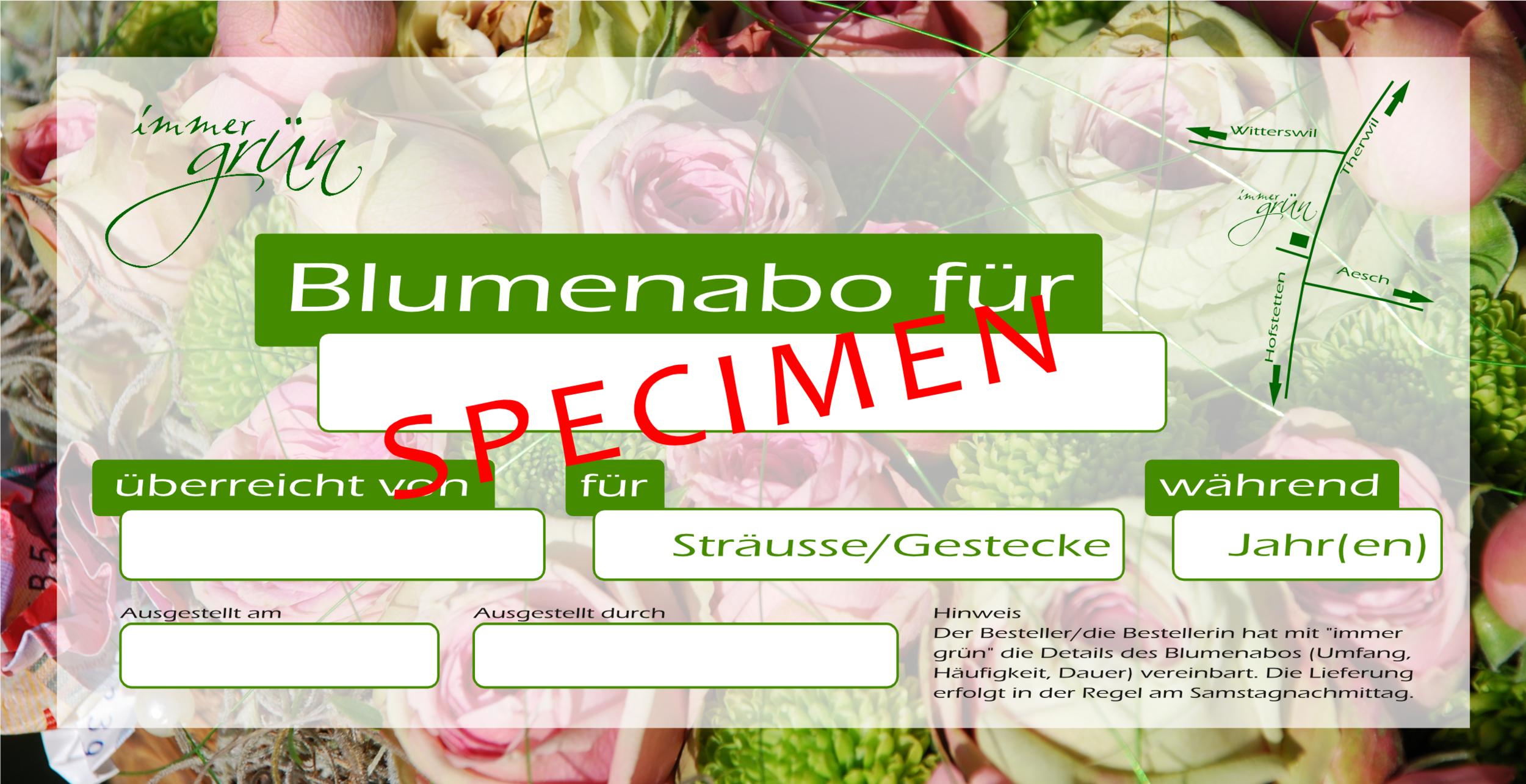 Blumenabo-Geschenkkarte