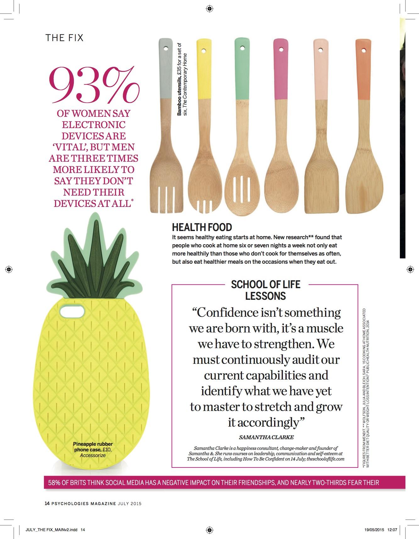 Psychologies Magazine July 2015