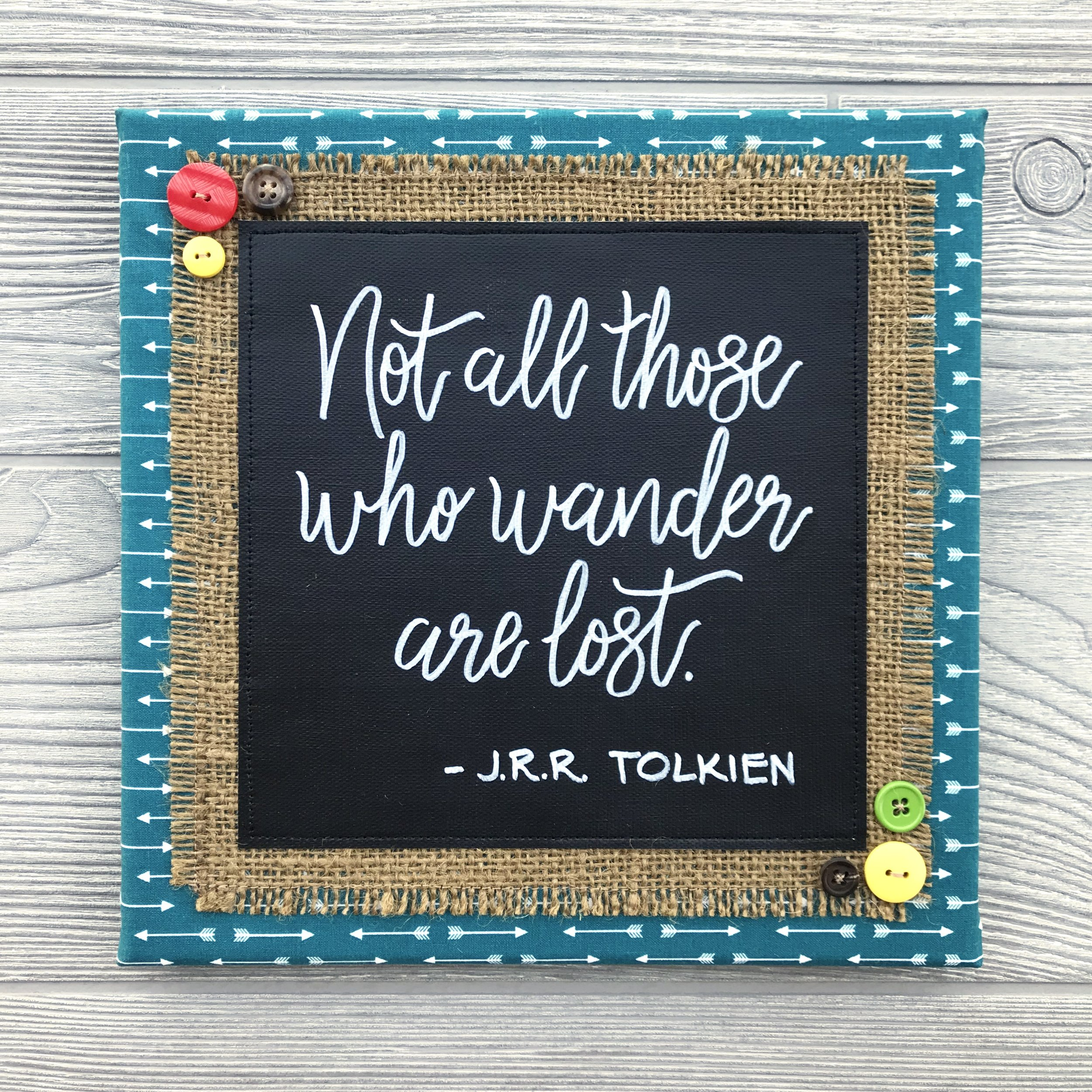 """Not All Those Who Wander Are Lost  Handmade Artwork – 10""""x10"""""""