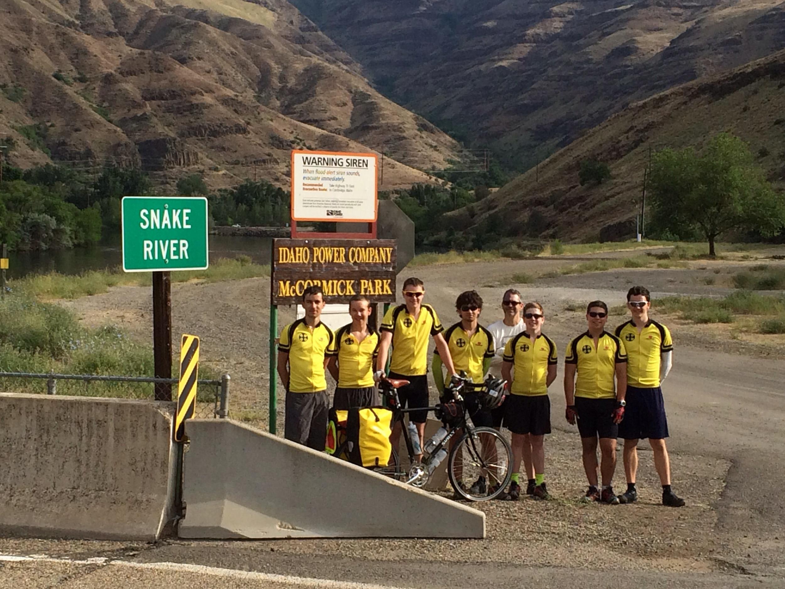 On the Snake River, goodbye Oregon, hello Idaho!