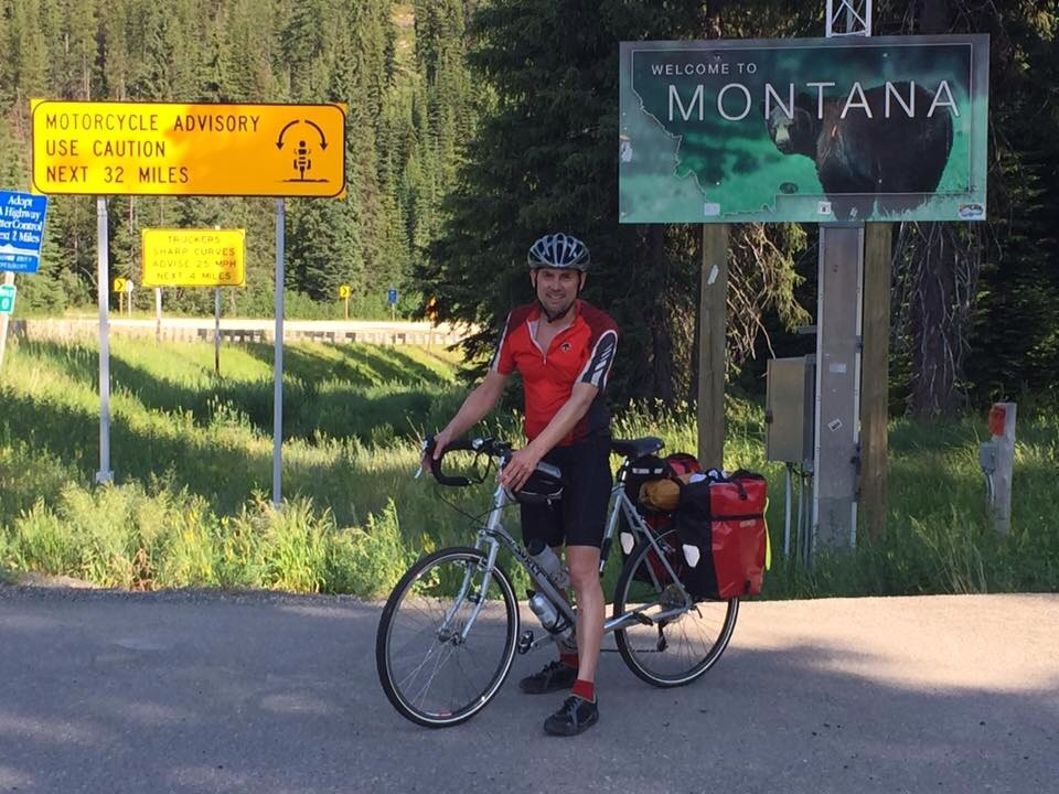 Steve at the Lolo Pass summit