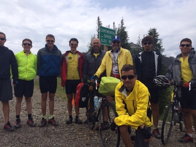 The crew atop Togwatee Pass. Now where's that grizzly??
