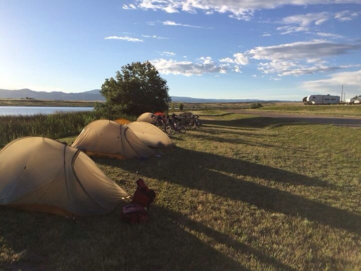 Our lakeside campsite in Saratoga WY.  What a peaceful site.
