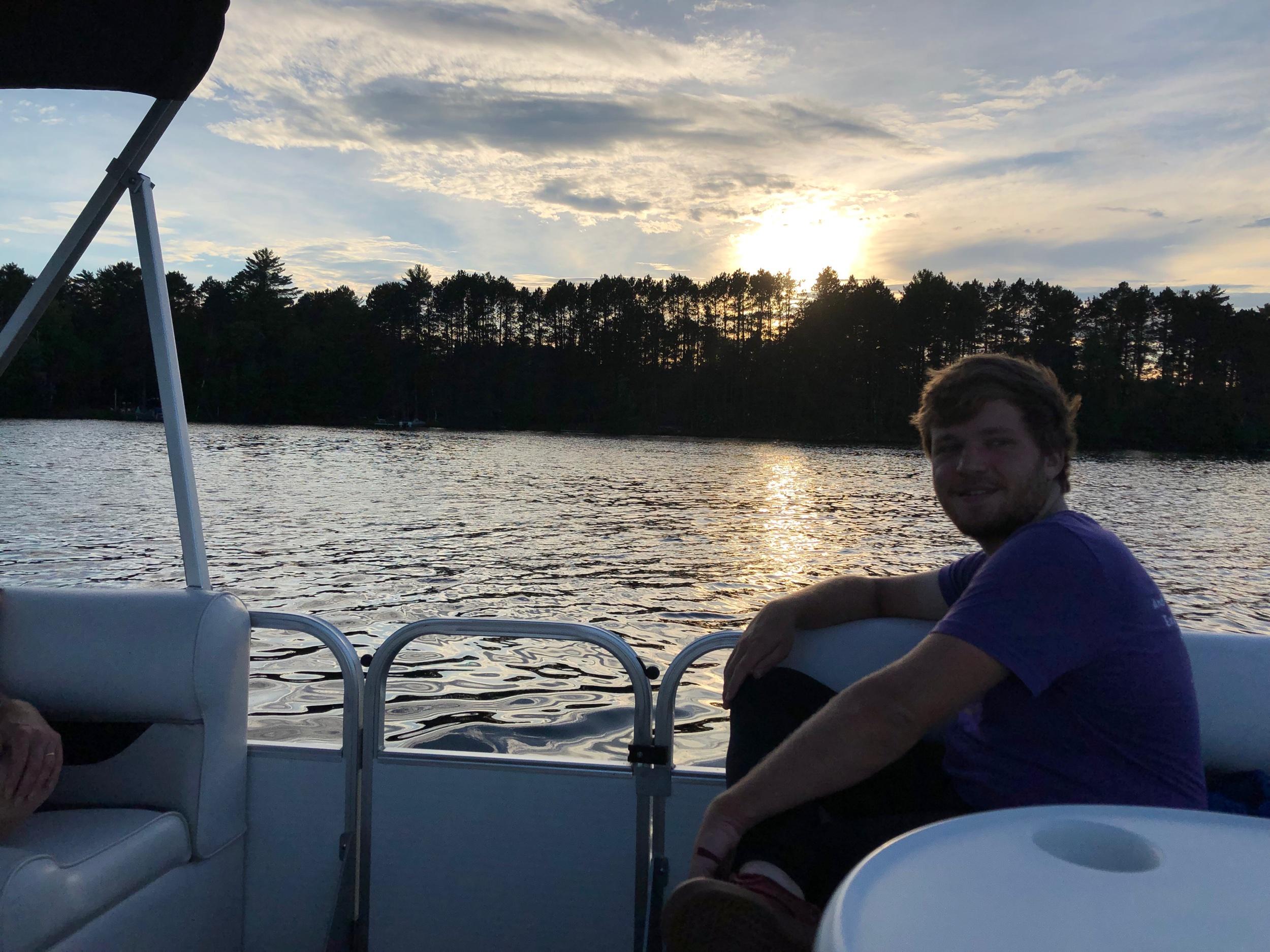 Watching the sunset on Lake Buckanabon