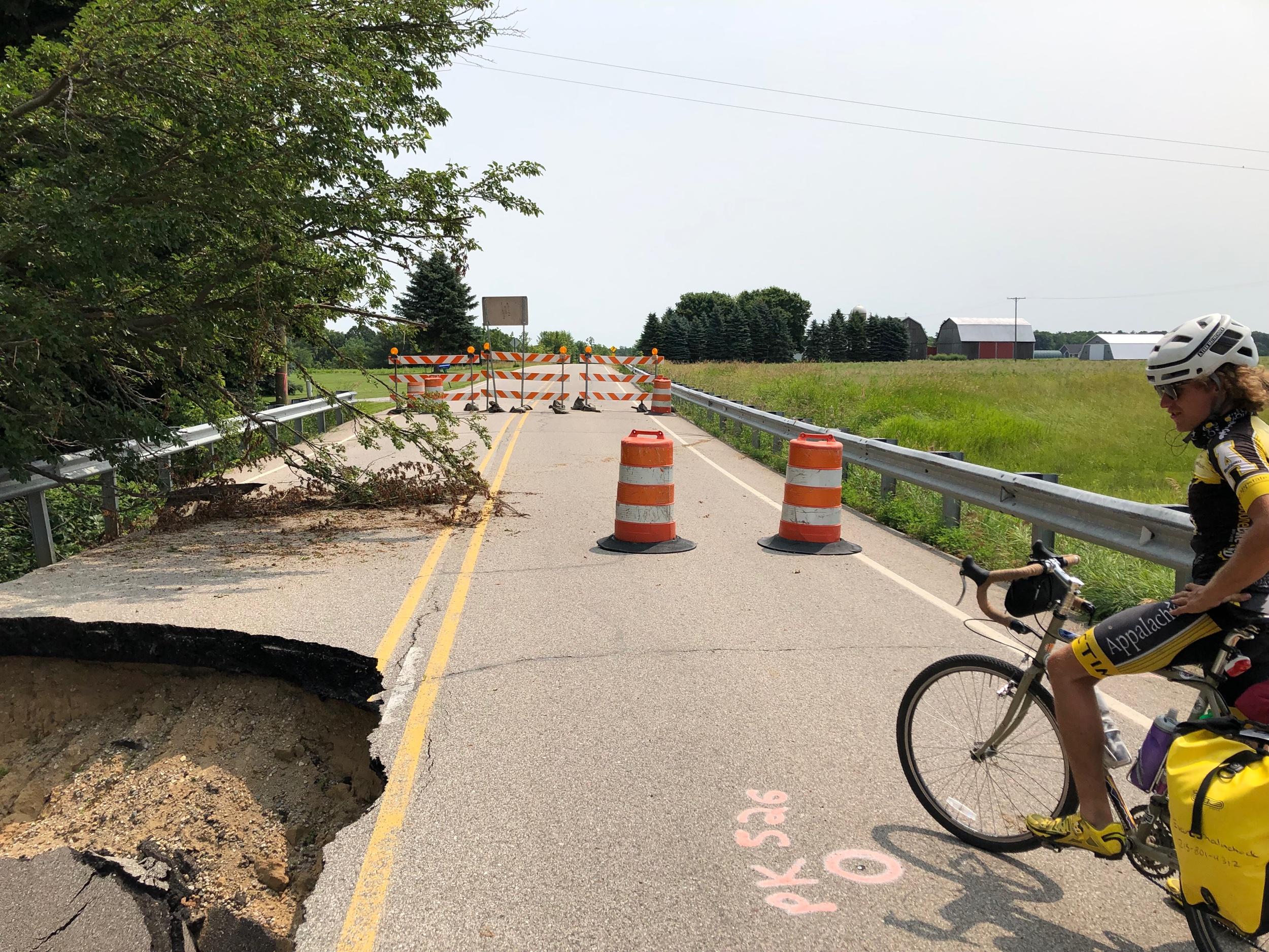 Pothole left!