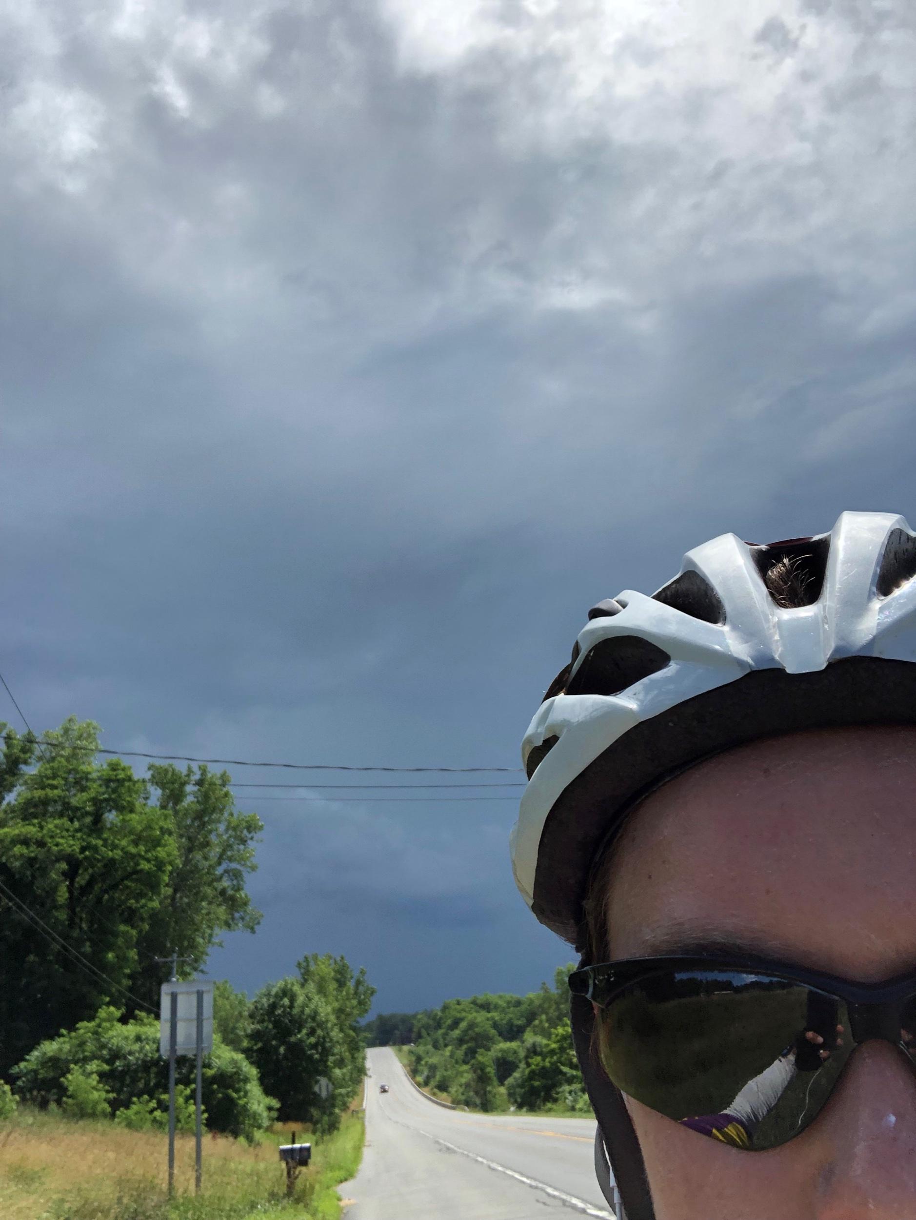 Thunderstorm chasing us into Oswego