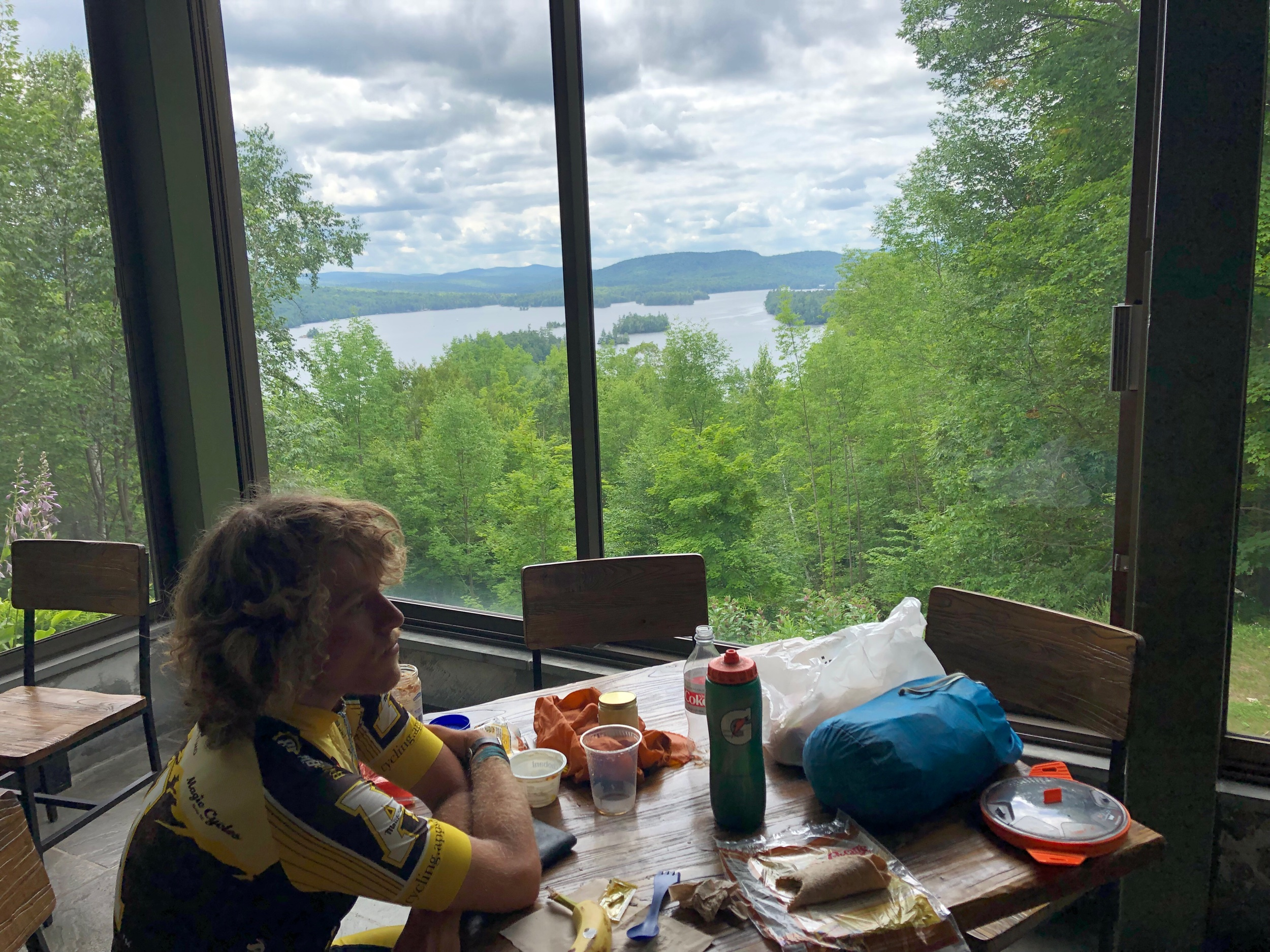 Lunch break at the Adirondack Museum