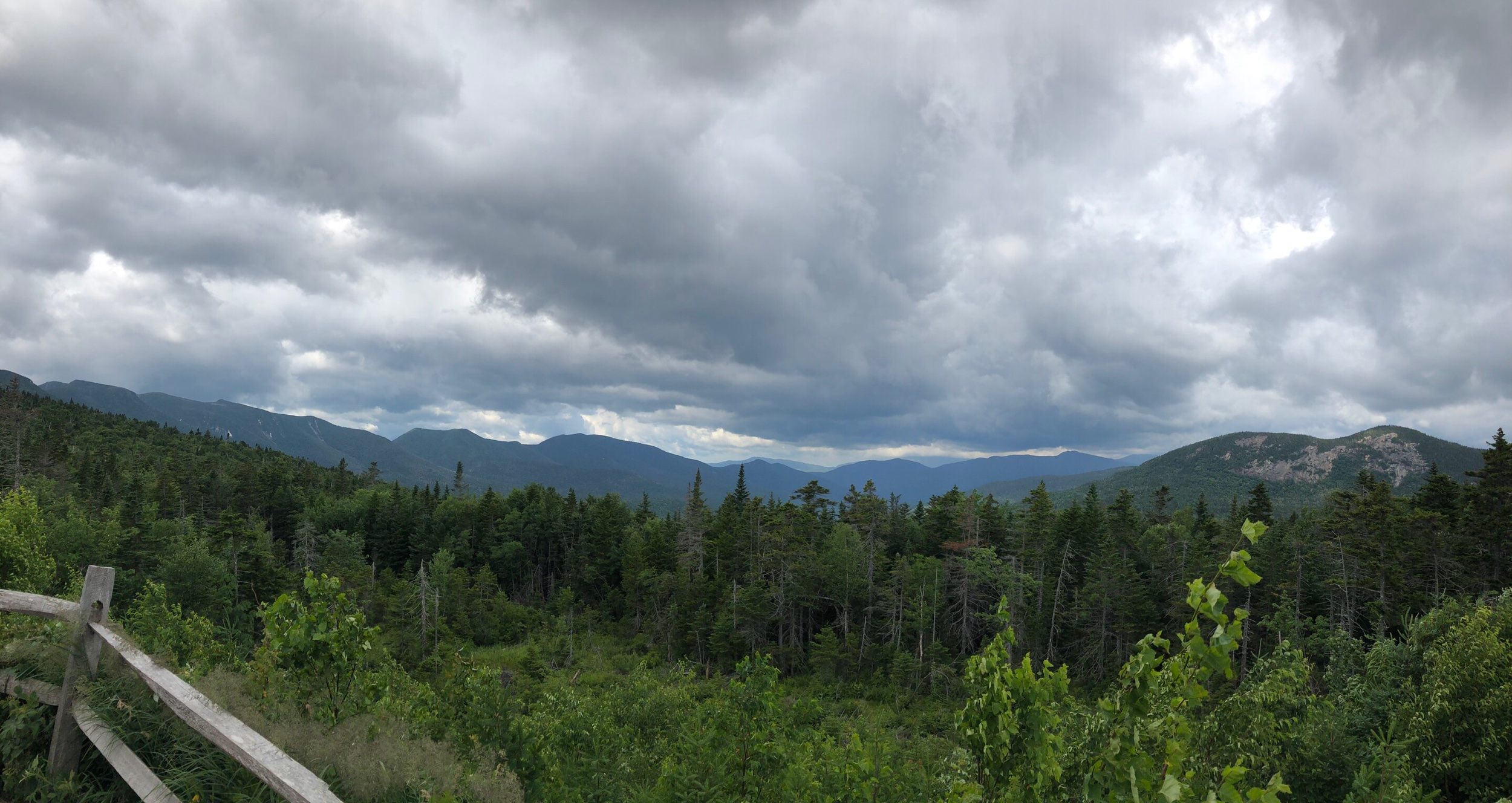 Storm clouds over the White Mountains