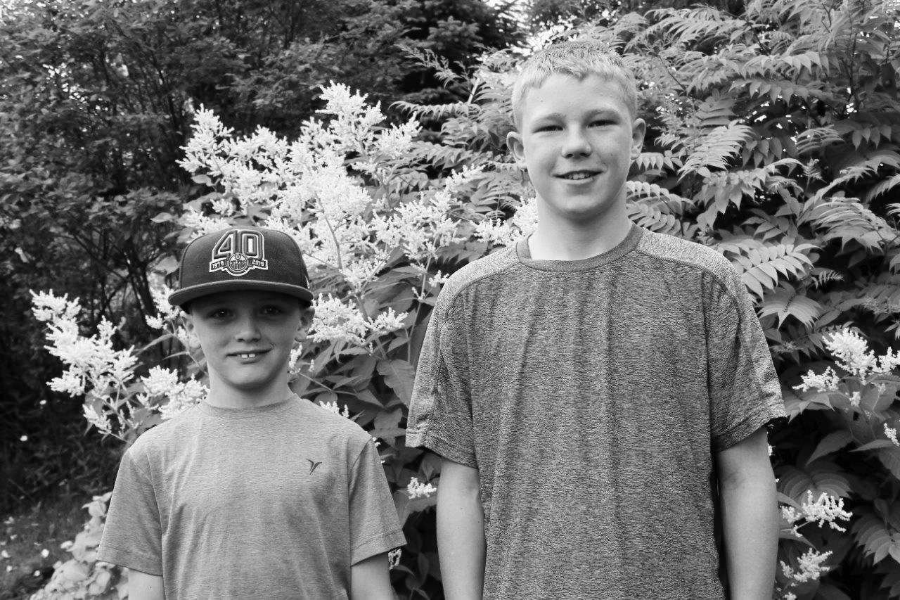 Jacob Smith (right), 12, lost his late grandfather's ring in July of 2018 while swimming in Seal Cove. One year later, Jacob Scott (left), 8, managed to find it. The ring was returned to Smith within two days of a flower service for his grandfather. Chris Lewis photo