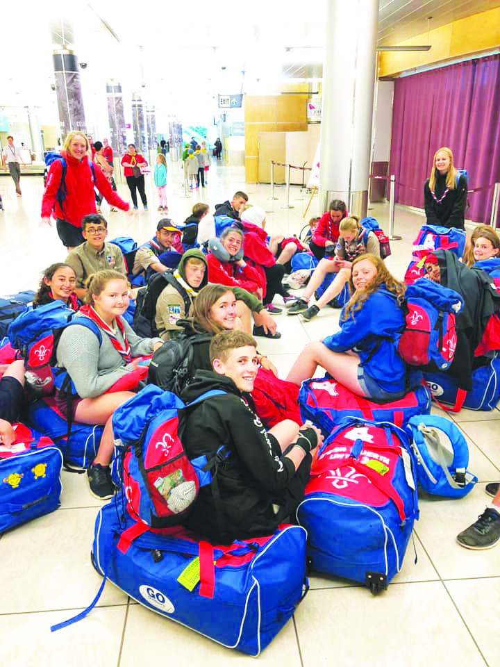 A handful of the UK Scouts at the airport.