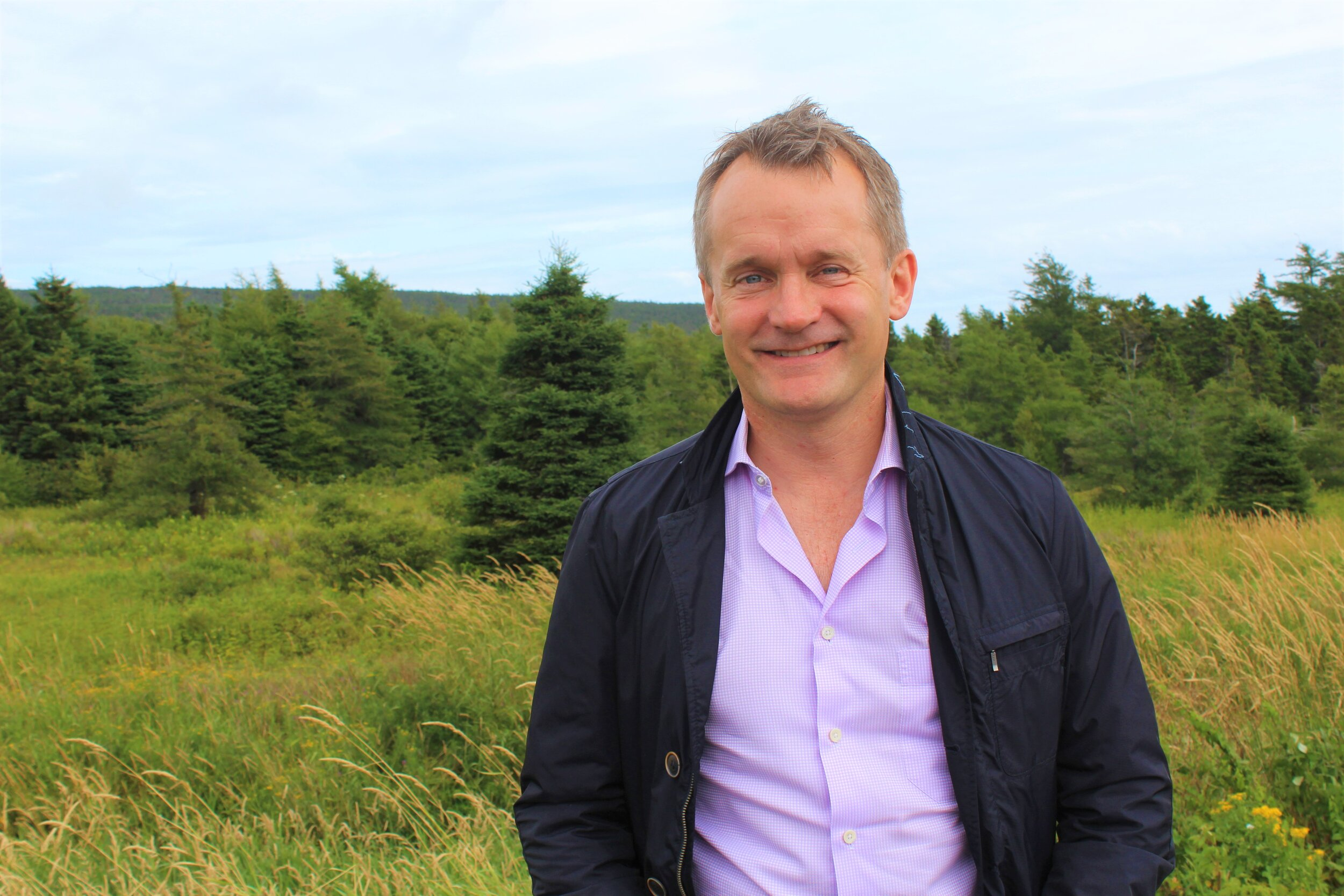 St. John's South – Mount Pearl MP Seamus O'Regan outside Keith's Diner in the Goulds following an interview with the Irish Loop Post. Chris Lewis photo