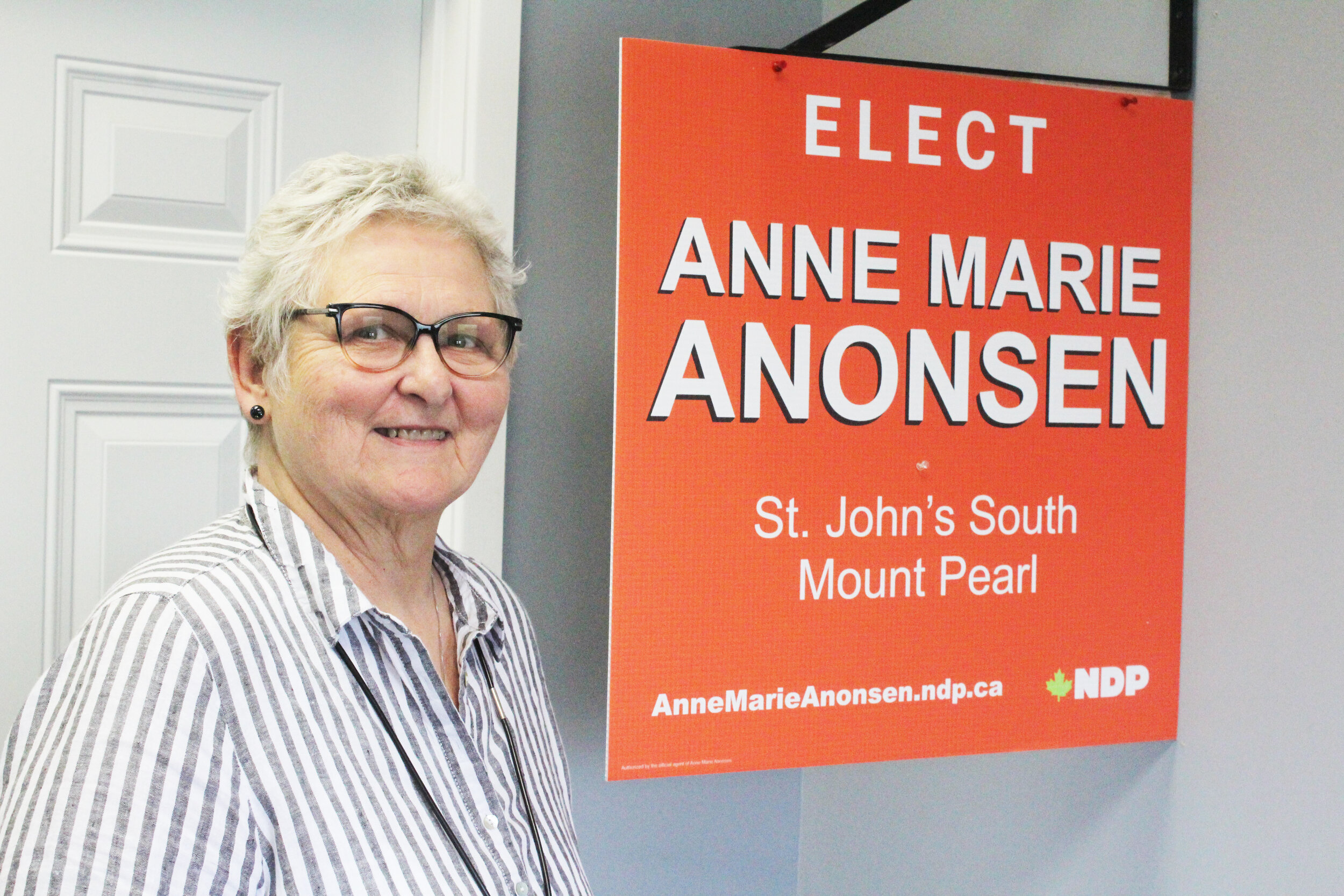 NDP St. John's South— Mount Pearl candidate Anne Marie Anonsen. Mark Squibb photo