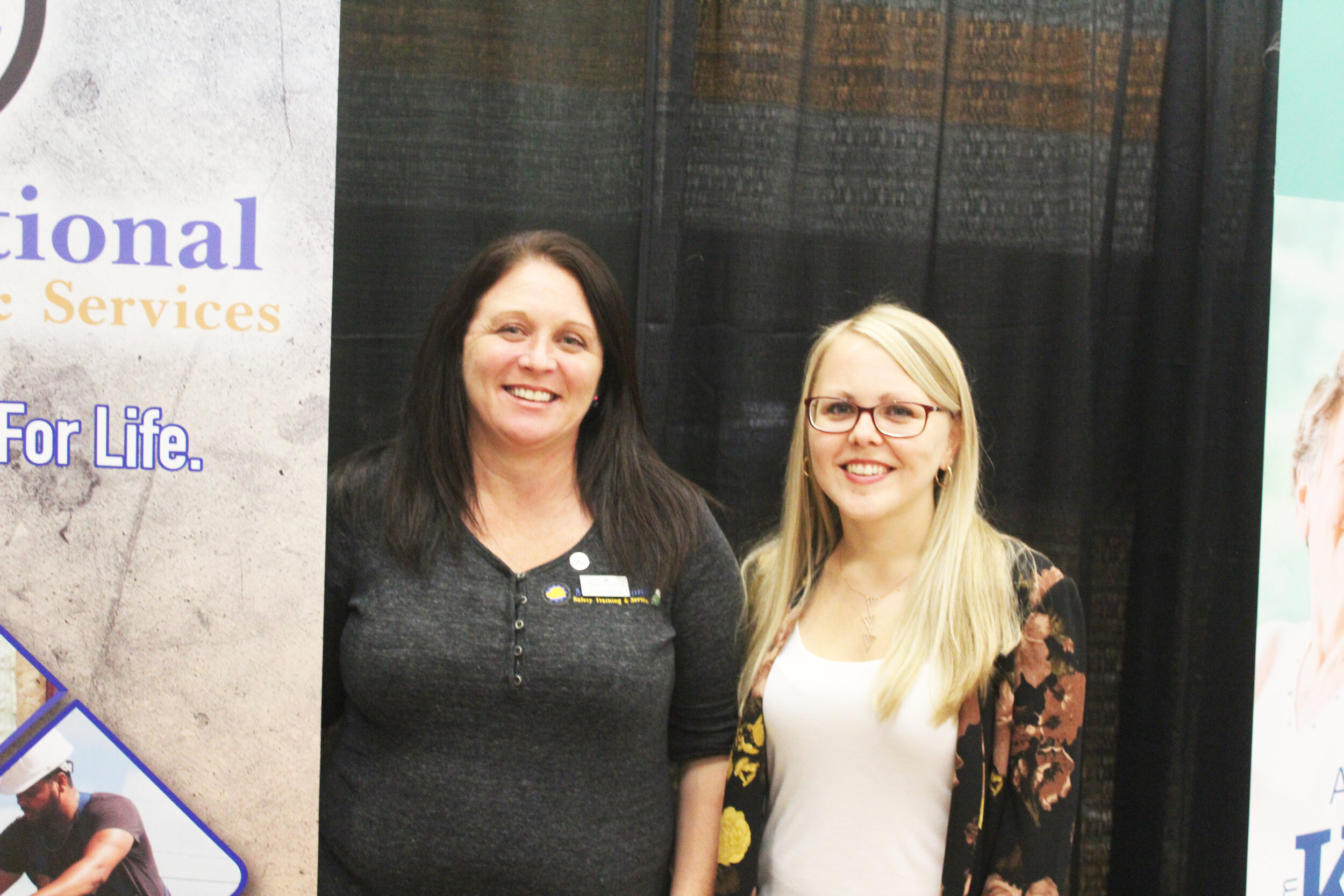 Job Fair  Collenn Glynn and Heather Bishop of MGM National were at the Mount Pearl— Paradise Chamber of Commerce job fair to look for potential instructors. Mark Squibb photo