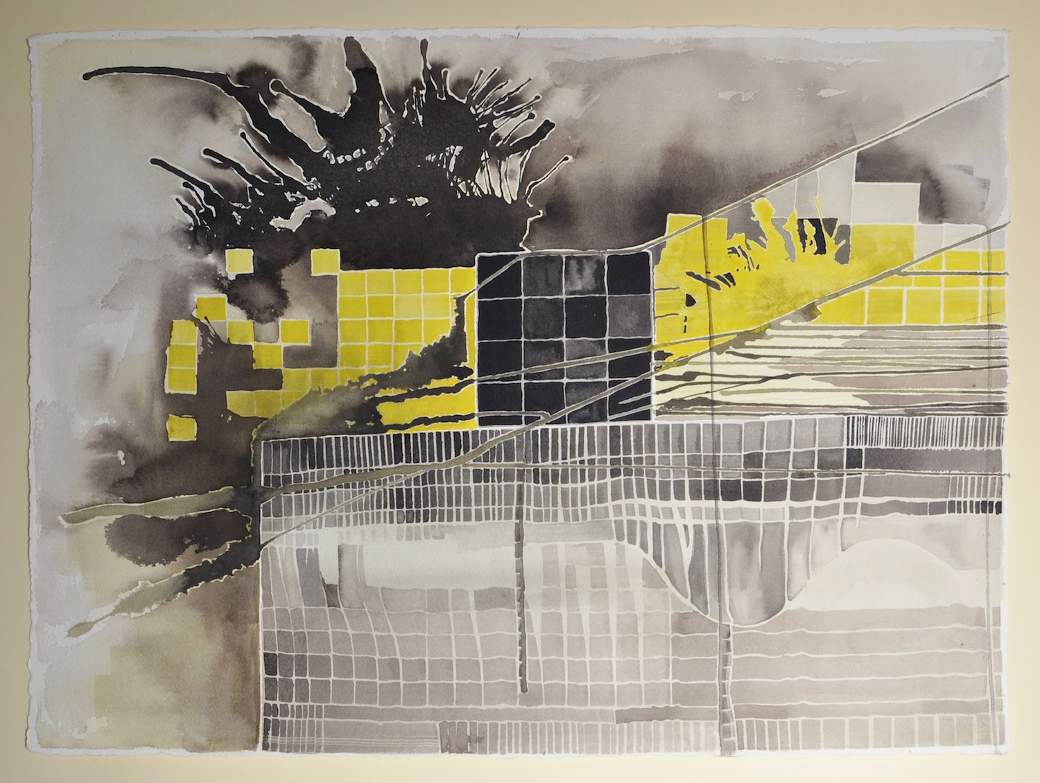 Untitled (Black and Yellow Series: 7), 2012