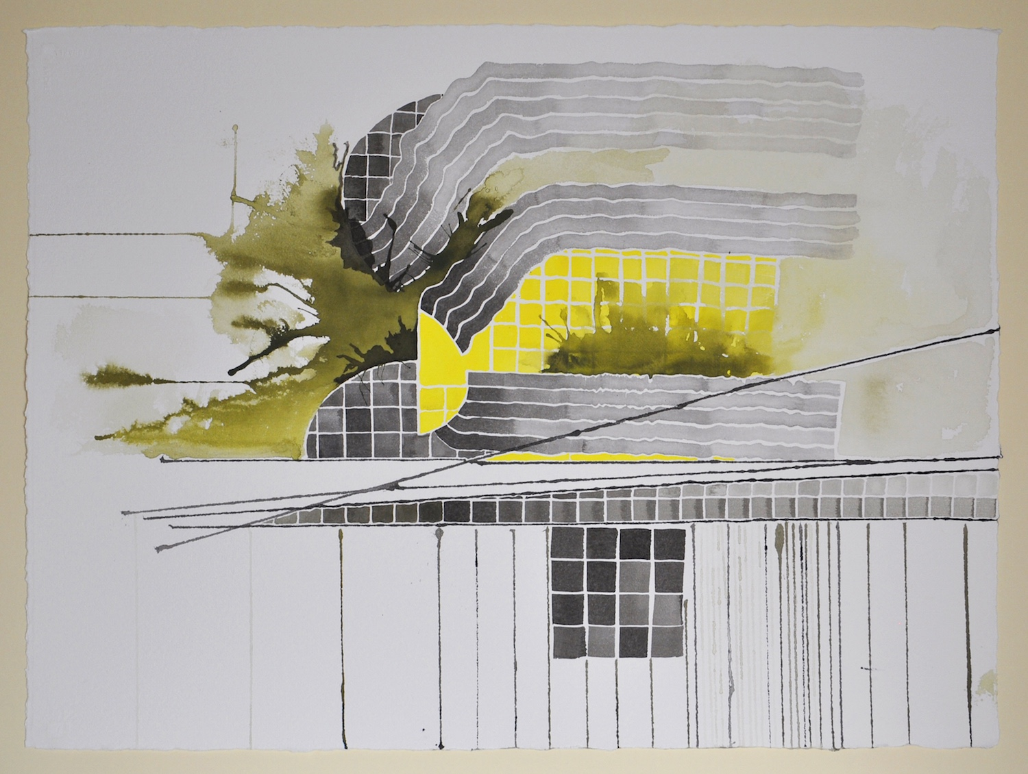 Untitled (Black and Yellow Series: 6), 2011