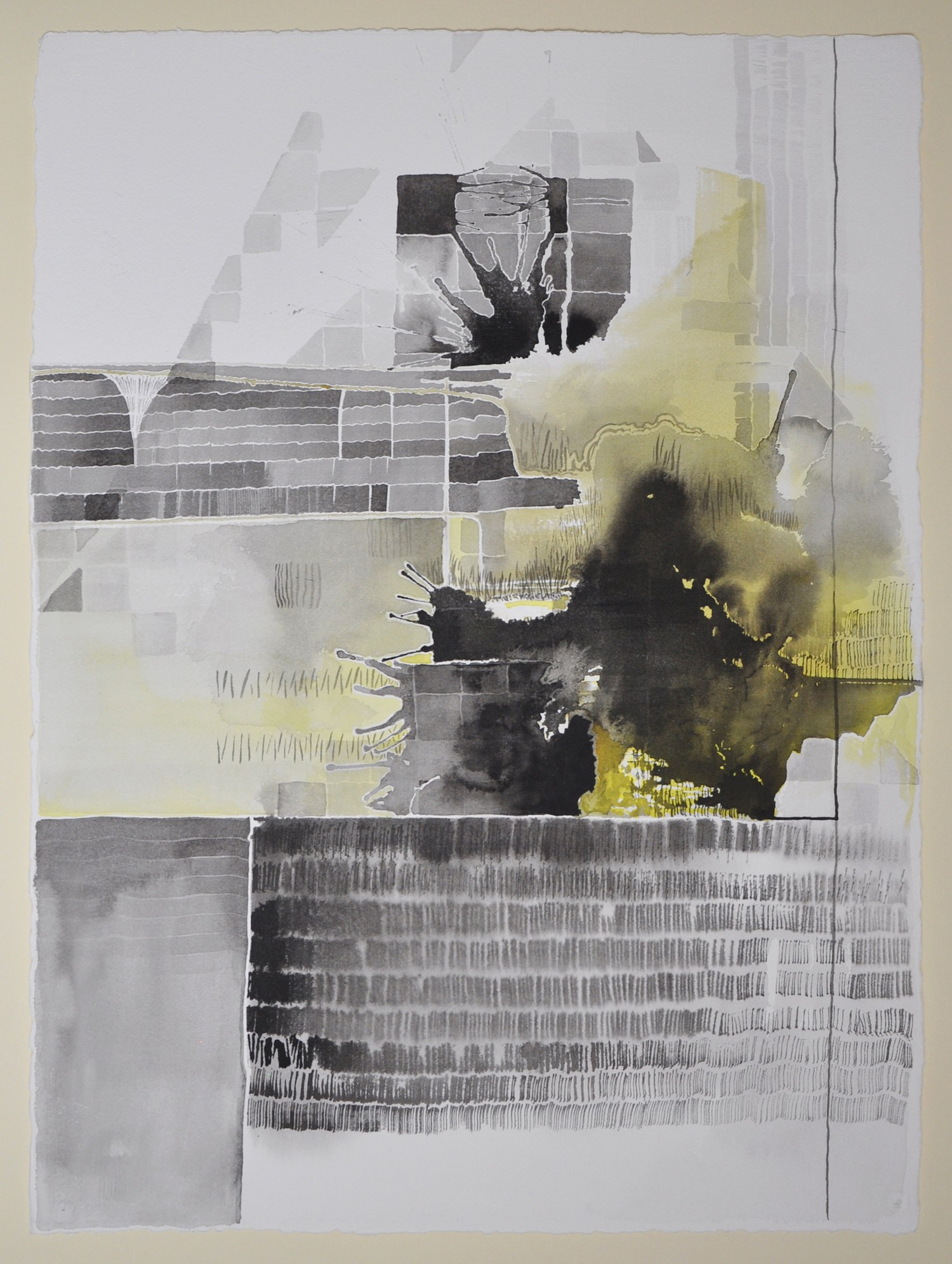 Untitled (Black and Yellow Series: 4), 2011