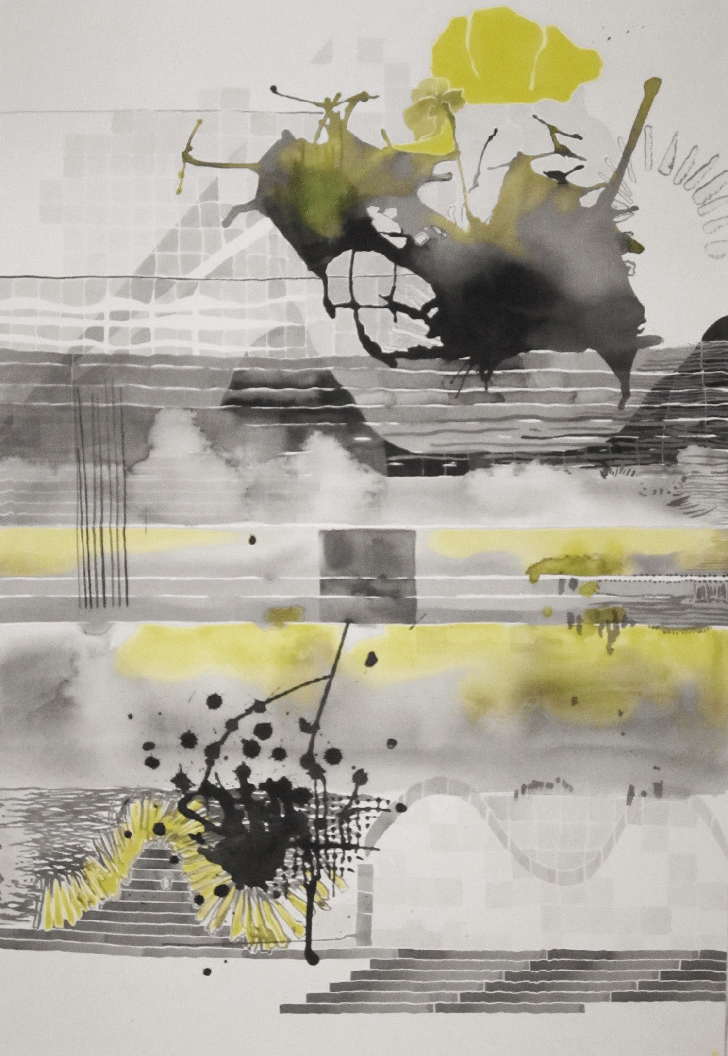Untitled (Black and Yellow Series: 3), 2011