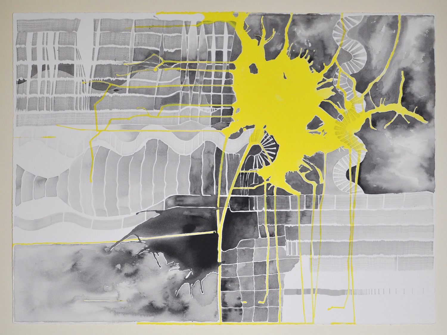 Untitled (Black and Yellow Series: 2), 2011