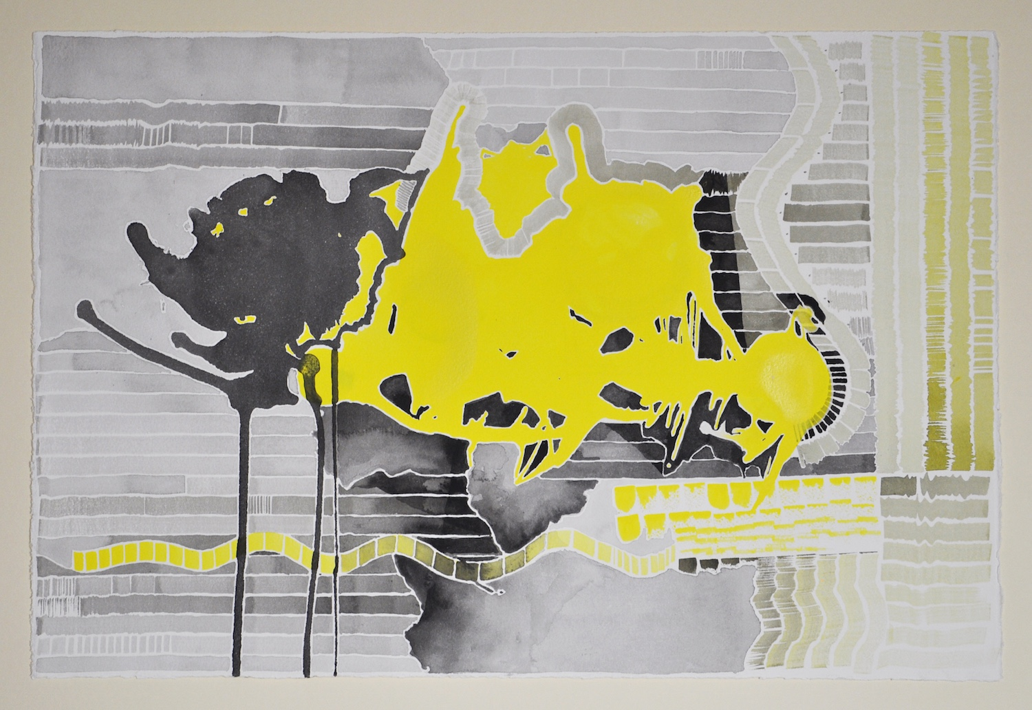 Untitled (Black and Yellow Series: 1), 2011