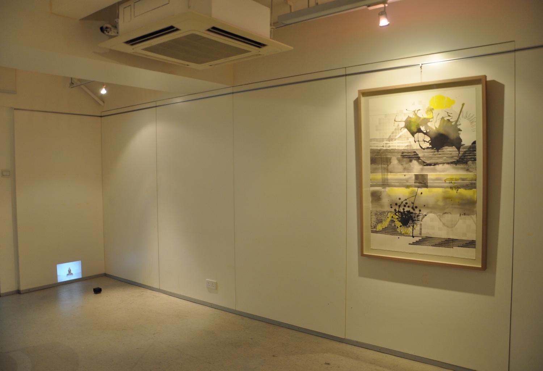 Installation of artwork at JMA Studio, 2012