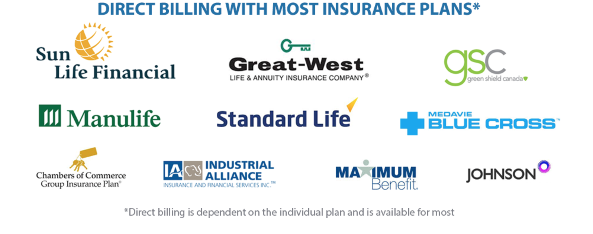 You will be asked to fill out the following information on our online intake form   Insurance Company  Date of birth  Policy/Group #  Member ID  If you are not the insured member, we need the first and last name of the insured member.  *Not all plans allow for direct billing, if your claim needs further processing you will be required to pay for your treatment. We will provide you with a receipt for manual submission.  *If your plan does not cover 100% of the treatment cost you will be required to pay the balance.  *We require a credit card number to store securely in the case that your billing doesn't go through. If this is the case you would be notified prior to being charged.  *For further information call 403-675-7778 or email mindfulmassagecanmore@gmail.com   Click on the link below to book online.