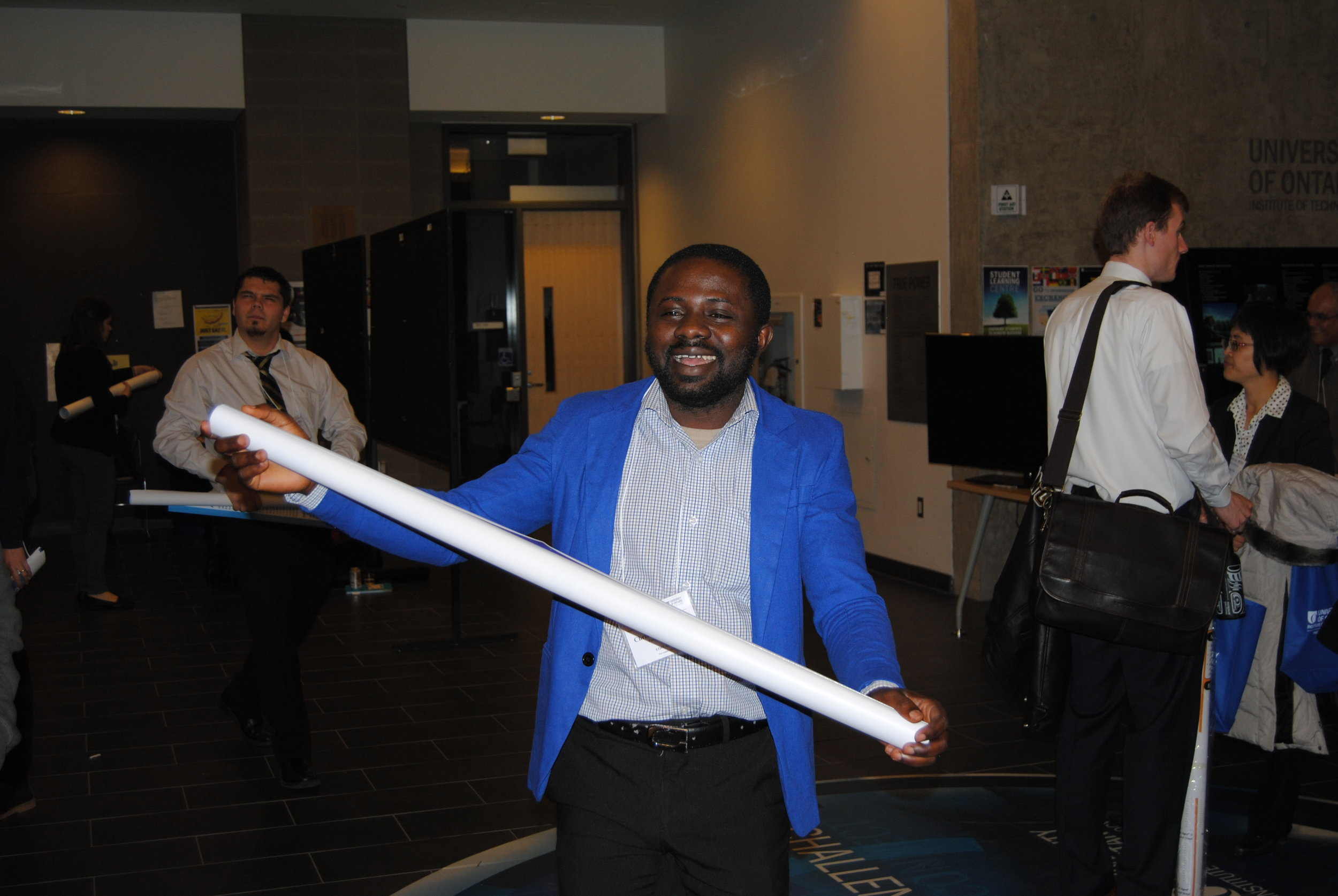 Christopher after presenting his work at the ECS (Canadian Section) Fall 2016 -UOIT