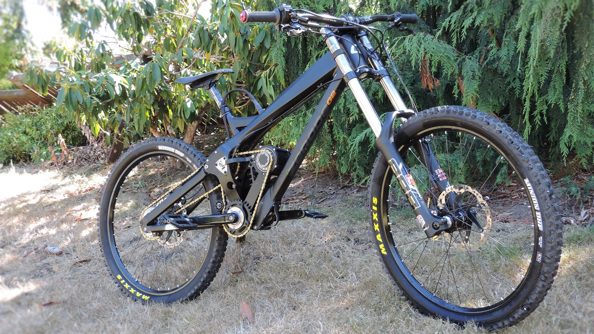 8 inches of high-pivot suspension, 6kW, 50lbs. What's your dream bike?