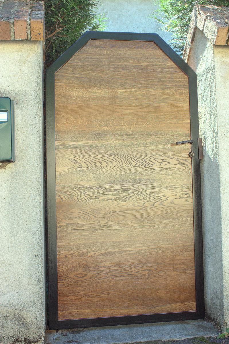 Porte extérieure - Chêne et acier