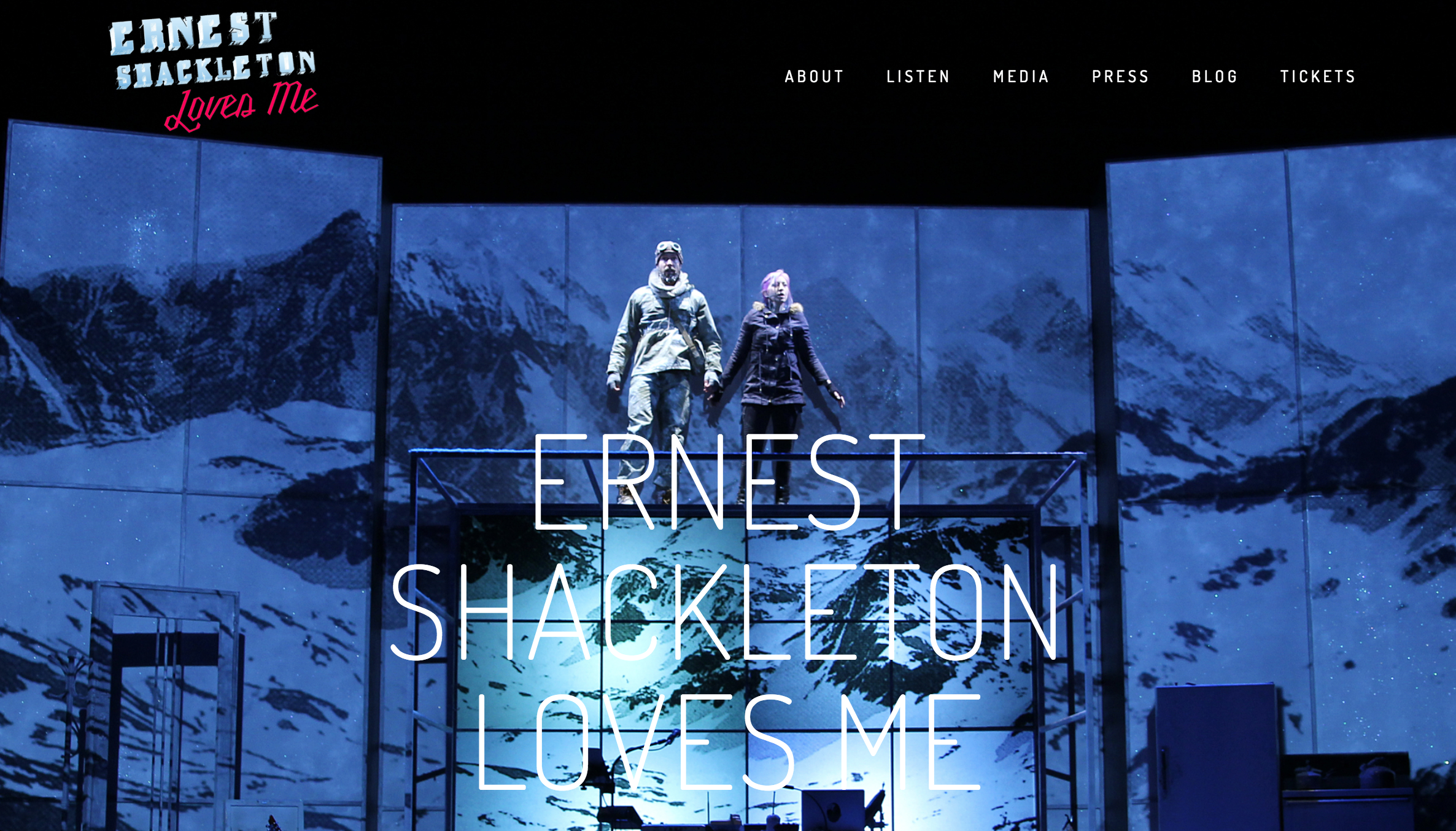 Ernest Shackleton Loves Me - Website Design