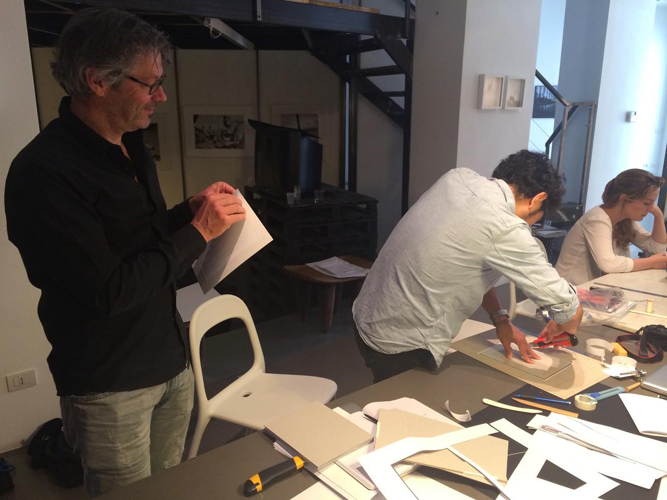Teun and Kazuma helping me out with the binding