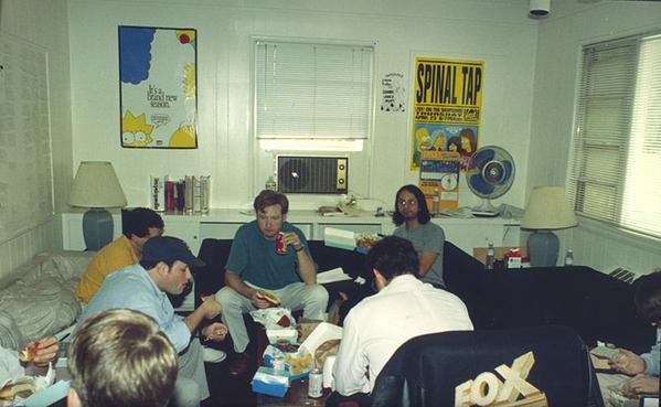 This is the writing room of the Simpsons creators. They knew you need good planning before starting out.