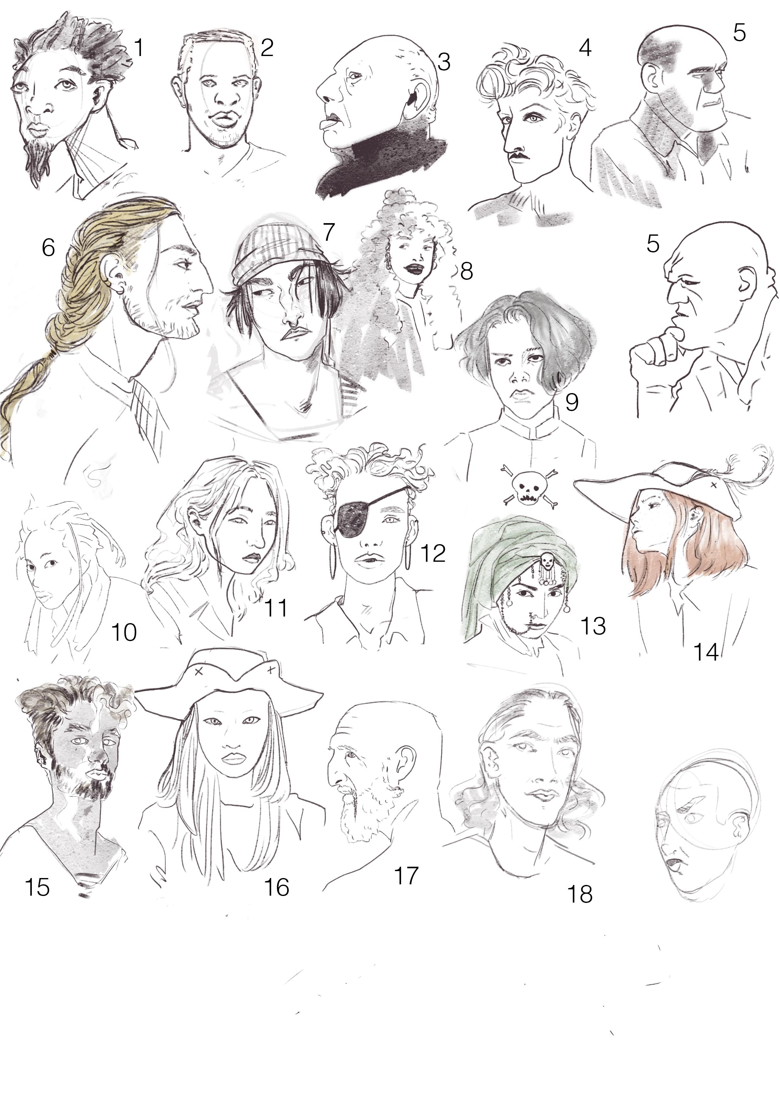 Crew Sketches
