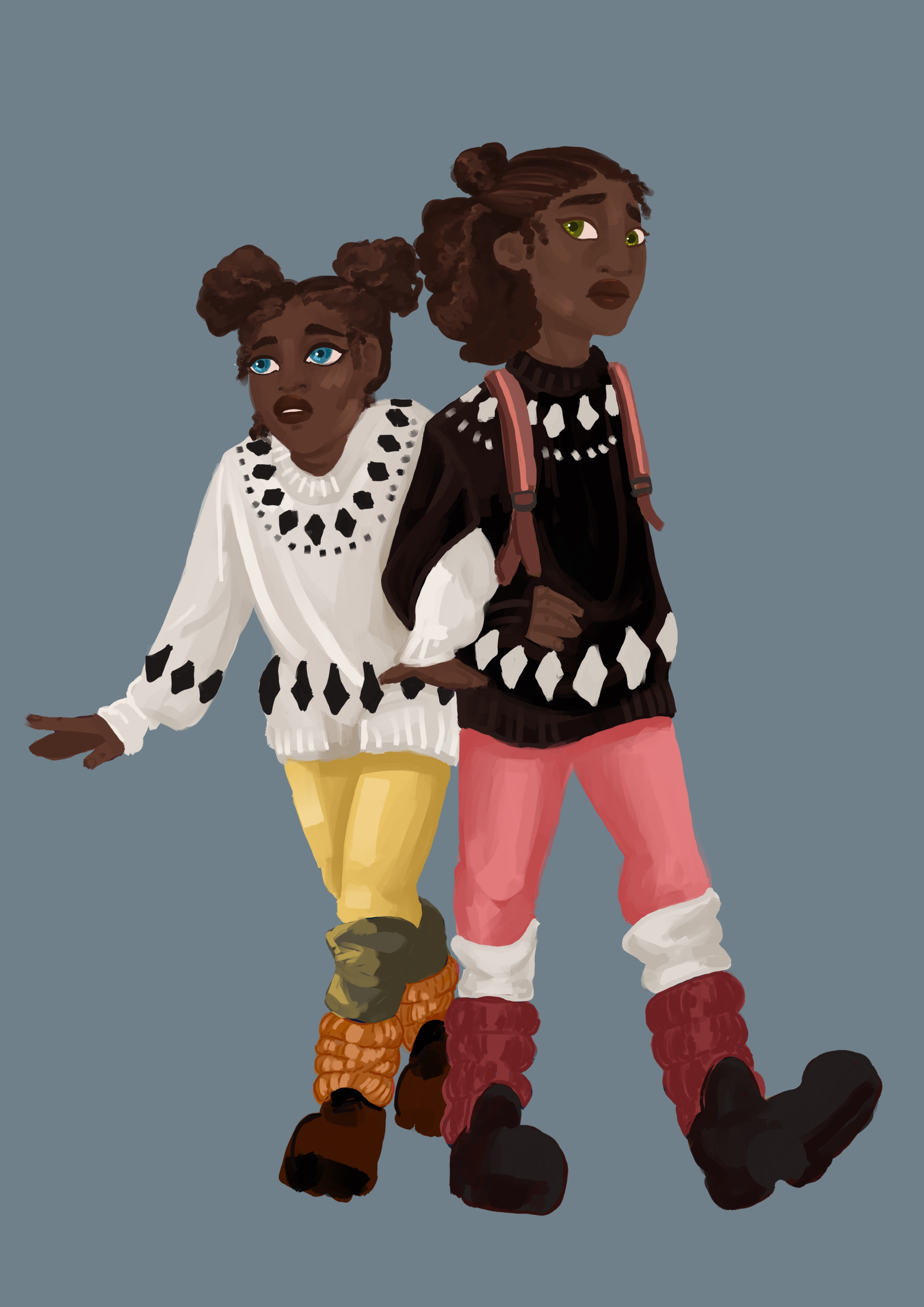 Figure 6b: Sisters Recoloured