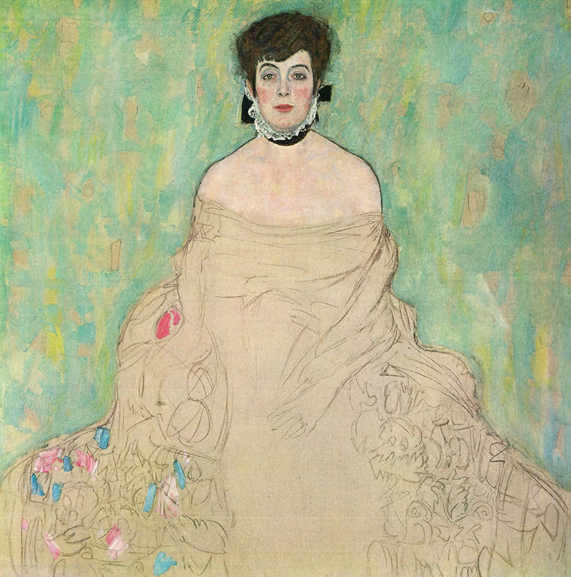 Portrait of  Amalie e Zuckerkandl by Gustav Klimt