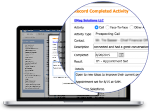 <b>Track your prospecting activities</b> for a smarter biz-dev process...