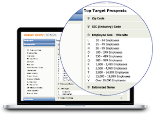 <b>Build target markets</b> based on your ideal criteria...
